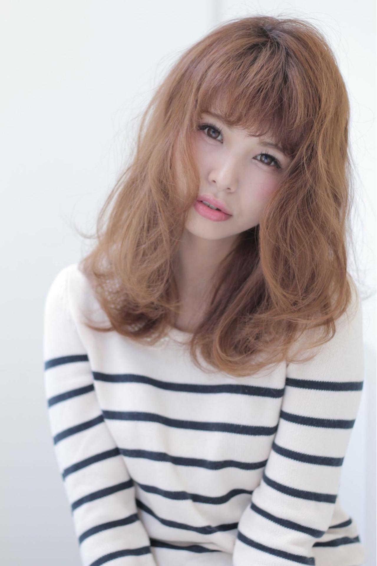暗髪 ナチュラル ゆるふわ ミディアム ヘアスタイルや髪型の写真・画像 | 石田 学史 / DISHEL