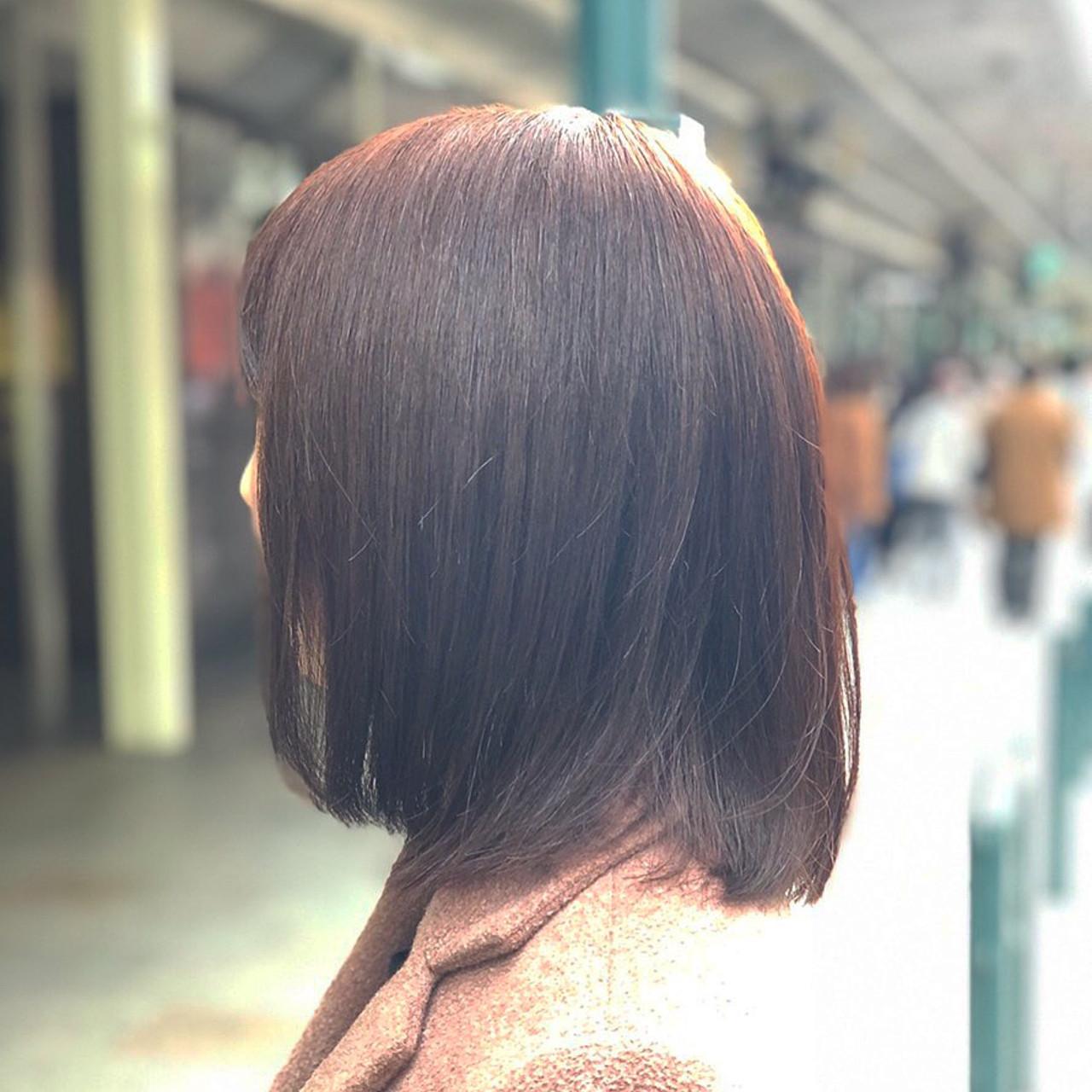 ベリーピンク ピンクブラウン ミディアム ナチュラル ヘアスタイルや髪型の写真・画像 | 元橋啓太 / snob