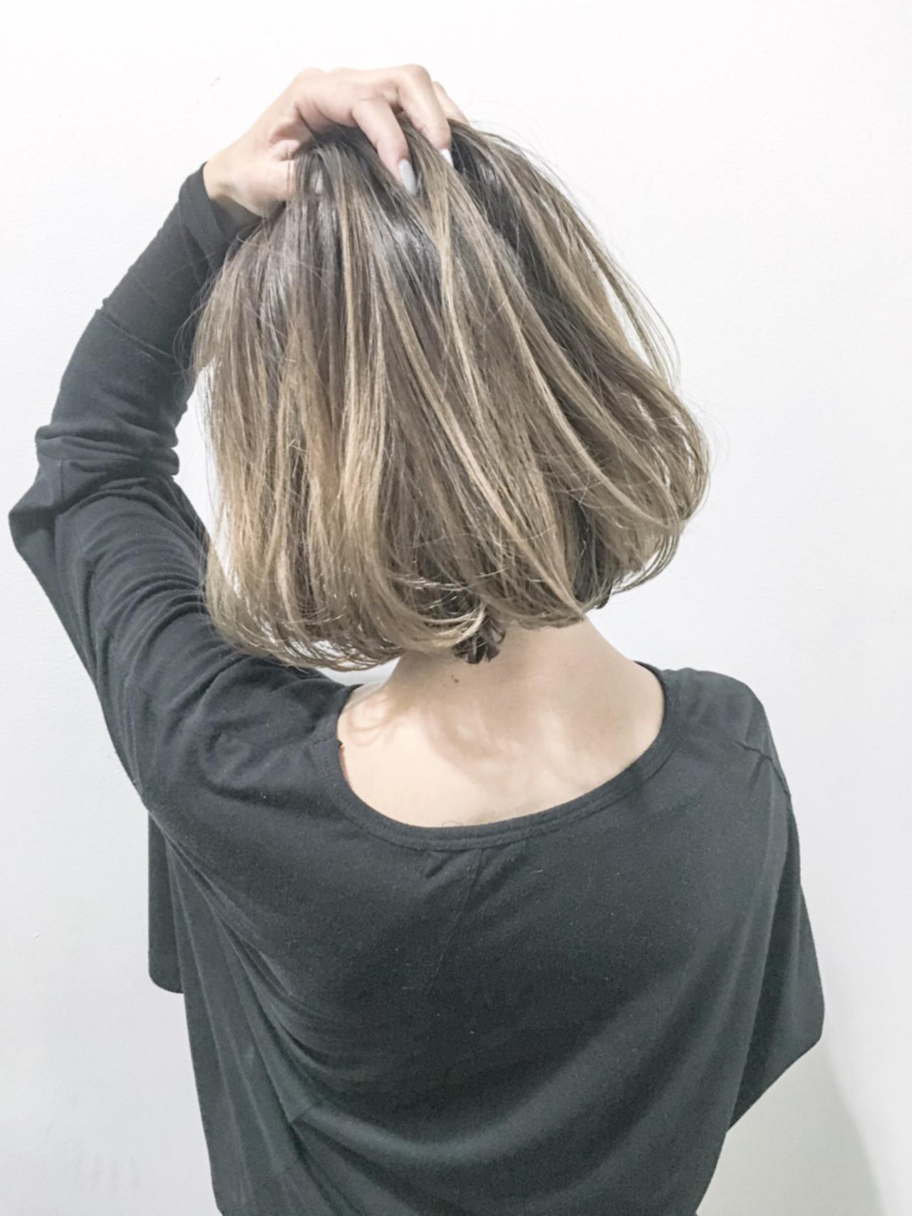 外国人風 暗髪 ストリート ボブヘアスタイルや髪型の写真・画像
