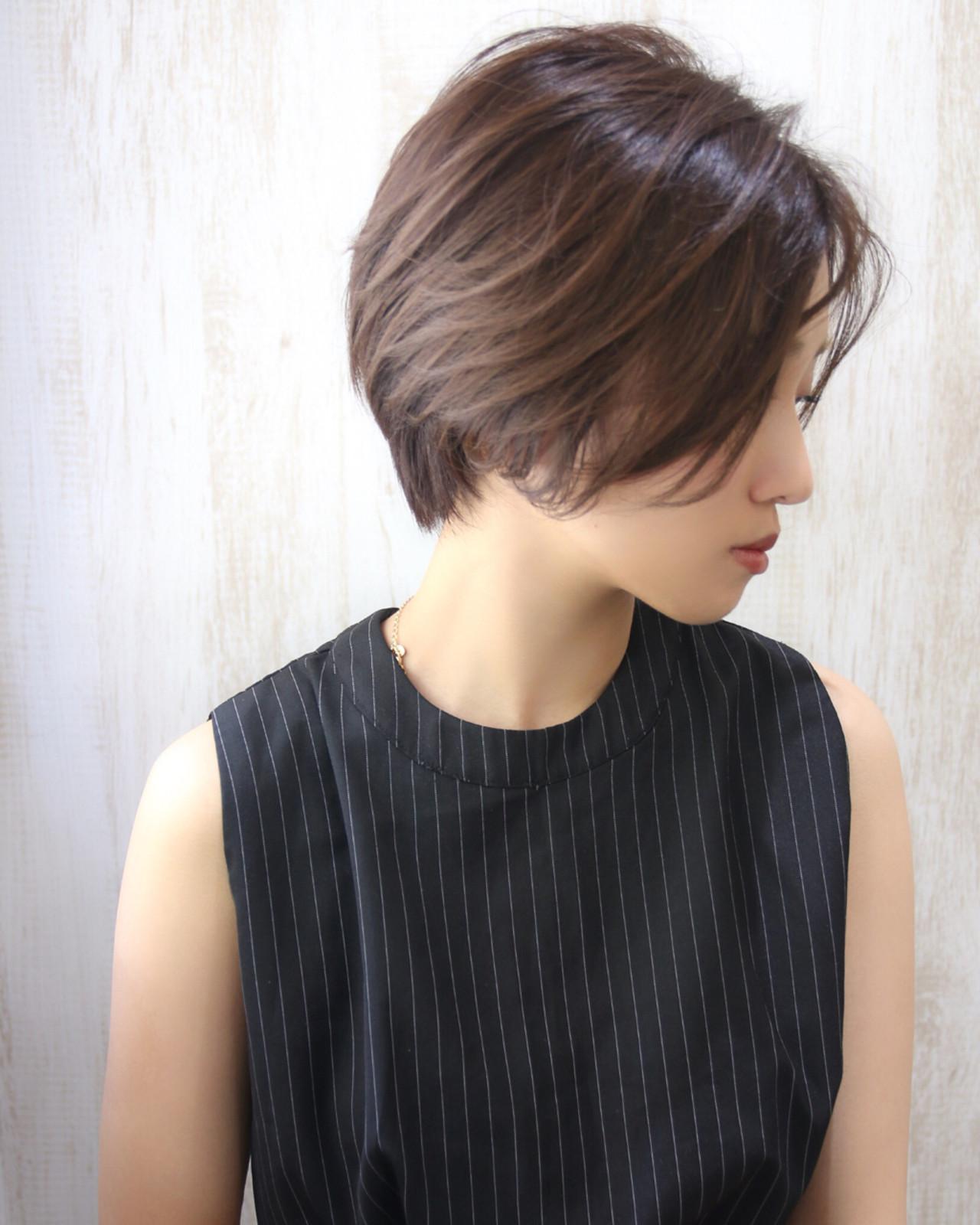 ショート 似合わせ 小顔 ベリーショート ヘアスタイルや髪型の写真・画像 | 松谷 聖史 /  estrela