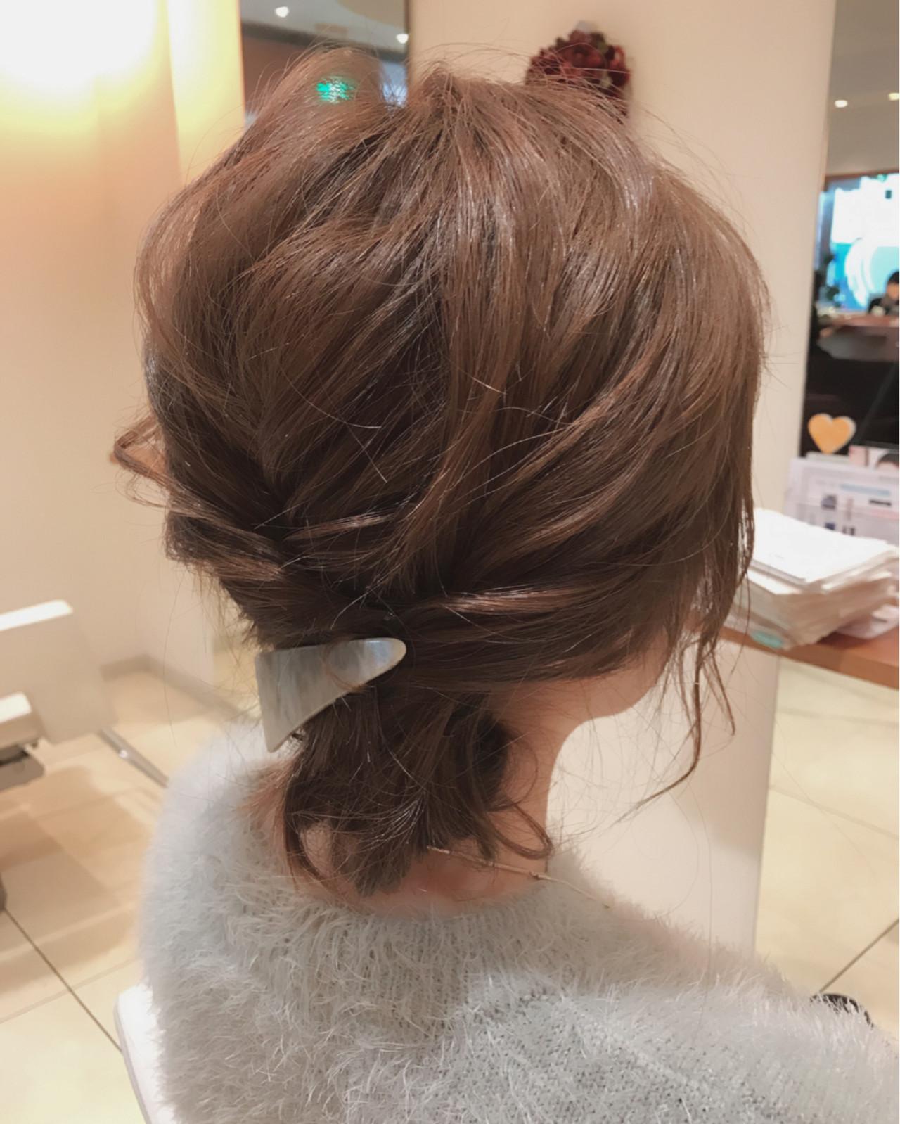ショート ヘアアレンジ 大人女子 ゆるふわ ヘアスタイルや髪型の写真・画像   小田 孝一 / Oase makoto brands
