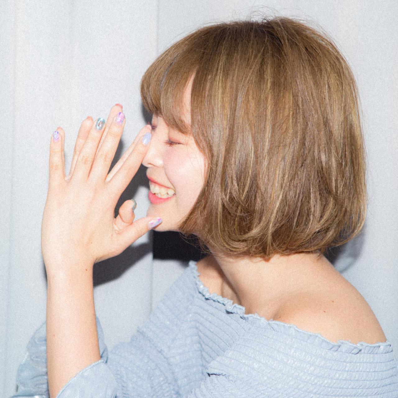 ミニボブ ナチュラル 小顔ヘア ボブ ヘアスタイルや髪型の写真・画像 | 宮川好江 / Euphoria SHIBUYA GRANDE