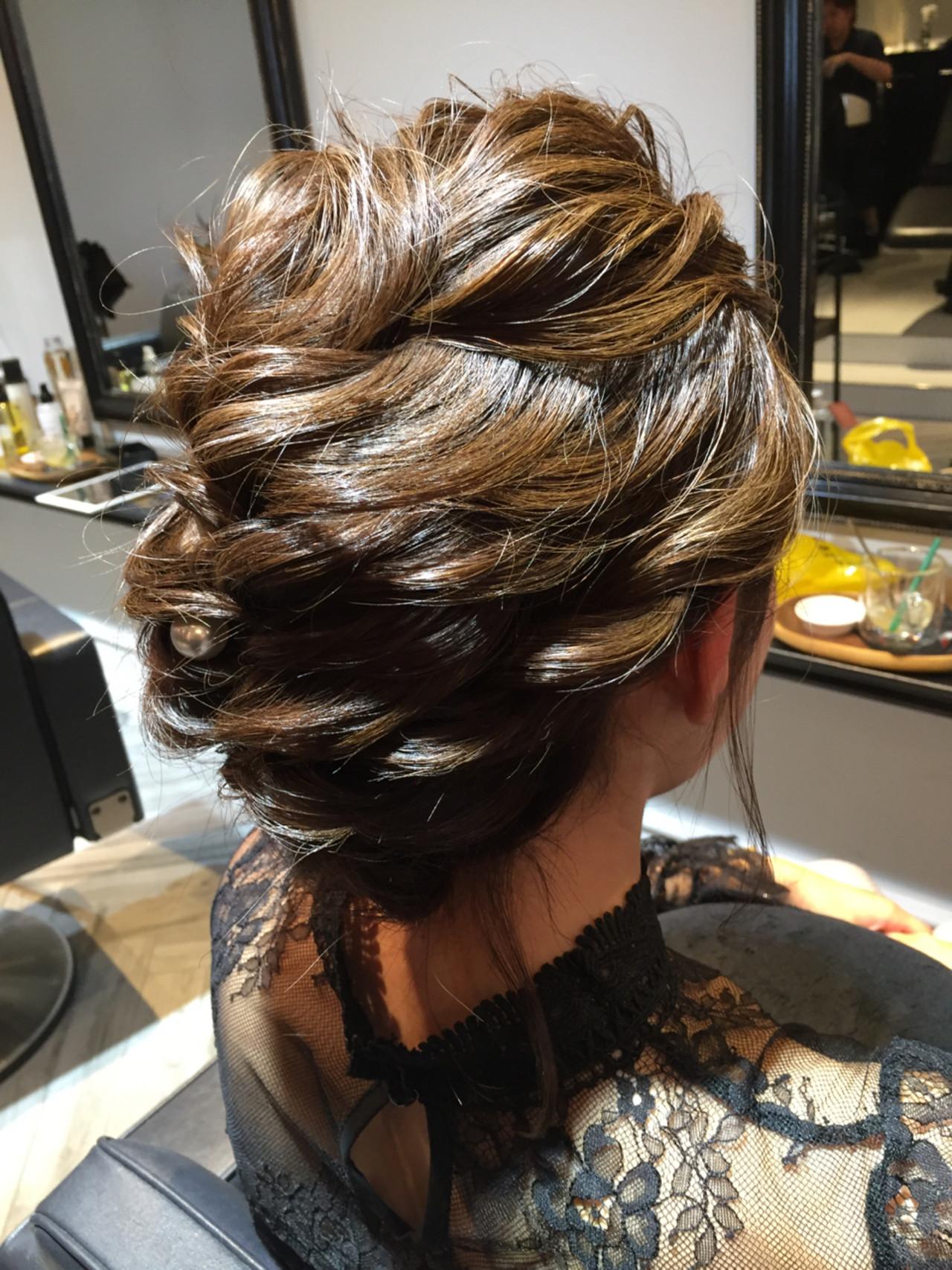 ゆるふわ 上品 セミロング 結婚式 ヘアスタイルや髪型の写真・画像 | マツモト マサミ / Belle BIANCA