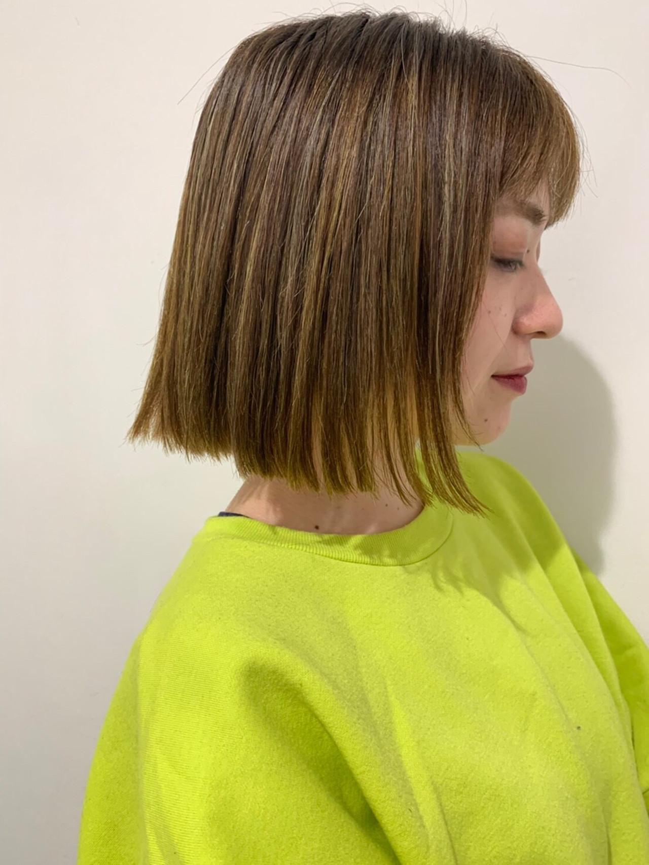 デート ボブ 成人式 ストリートヘアスタイルや髪型の写真・画像