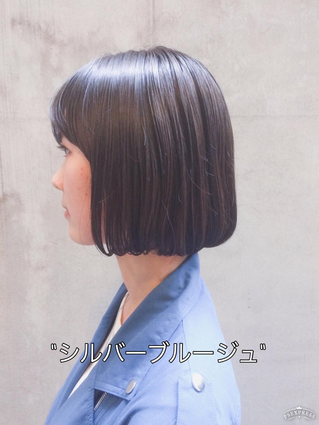 ナチュラル ミニボブ 外国人風カラー 切りっぱなしボブ ヘアスタイルや髪型の写真・画像 | Tierra / 町田雄一 / Tierra harajuku