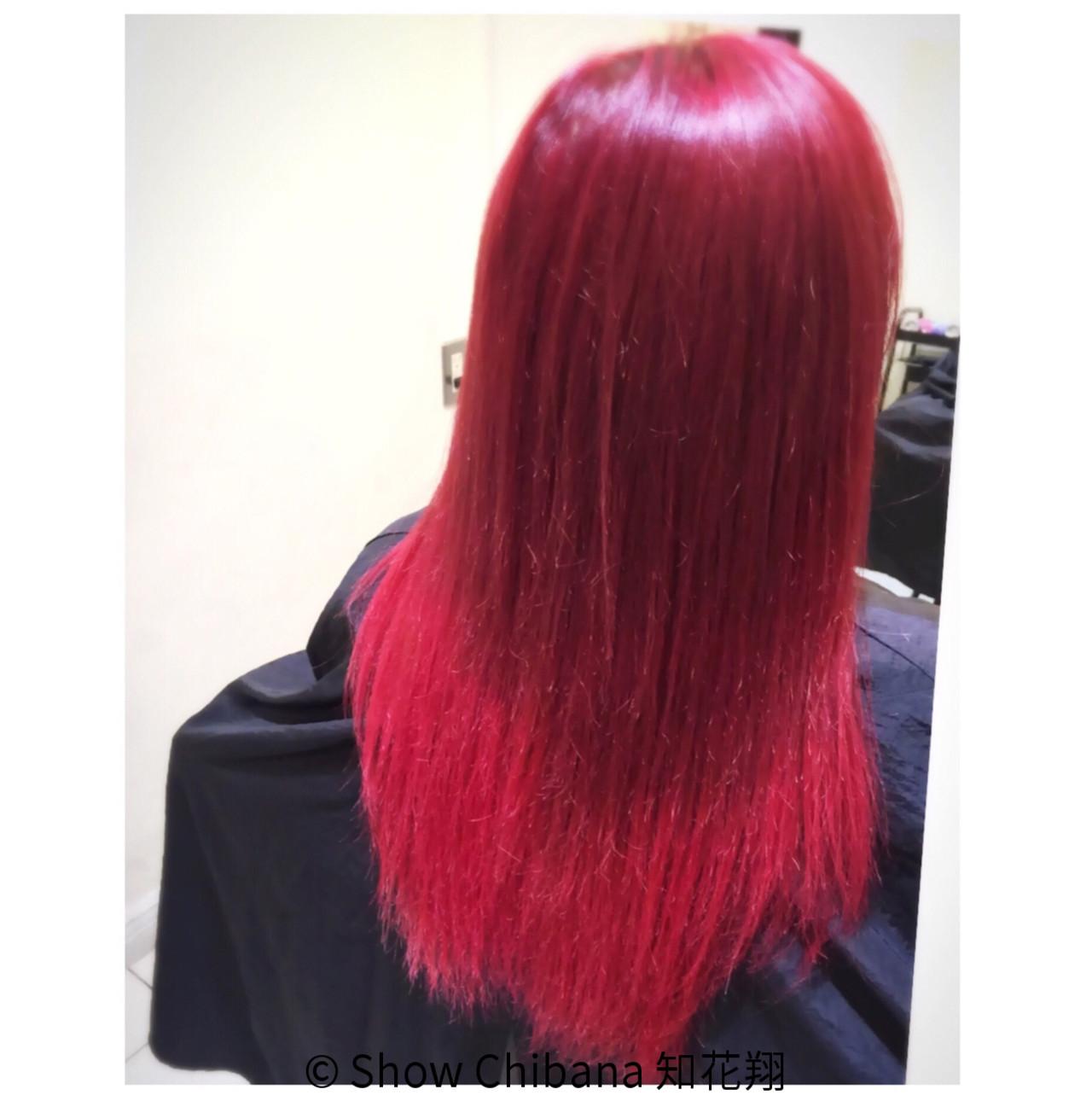 グラデーションカラー ピンク 外国人風 ロング ヘアスタイルや髪型の写真・画像 | Show Chibana 知花翔 / RICHE