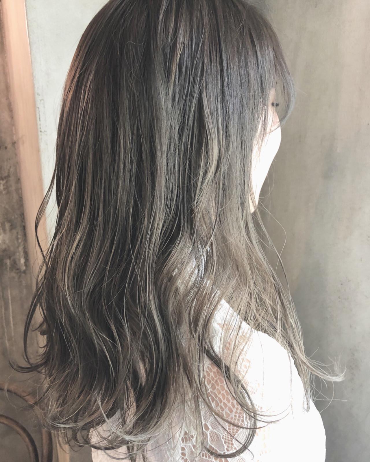 グレージュ 外国人風カラー 透明感 ナチュラル ヘアスタイルや髪型の写真・画像 | TAKE / AUBE hair KAI