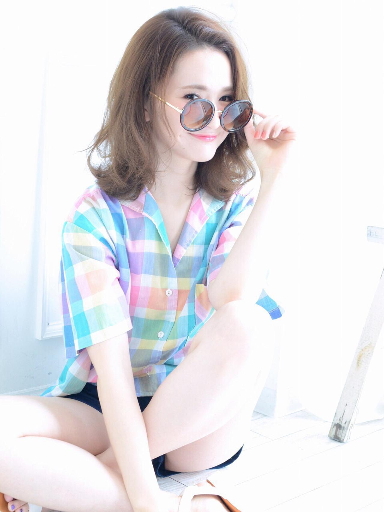 ミディアム ゆるふわ ロブ 外国人風 ヘアスタイルや髪型の写真・画像 | 清井 慎二 / DISHEL ディシェル
