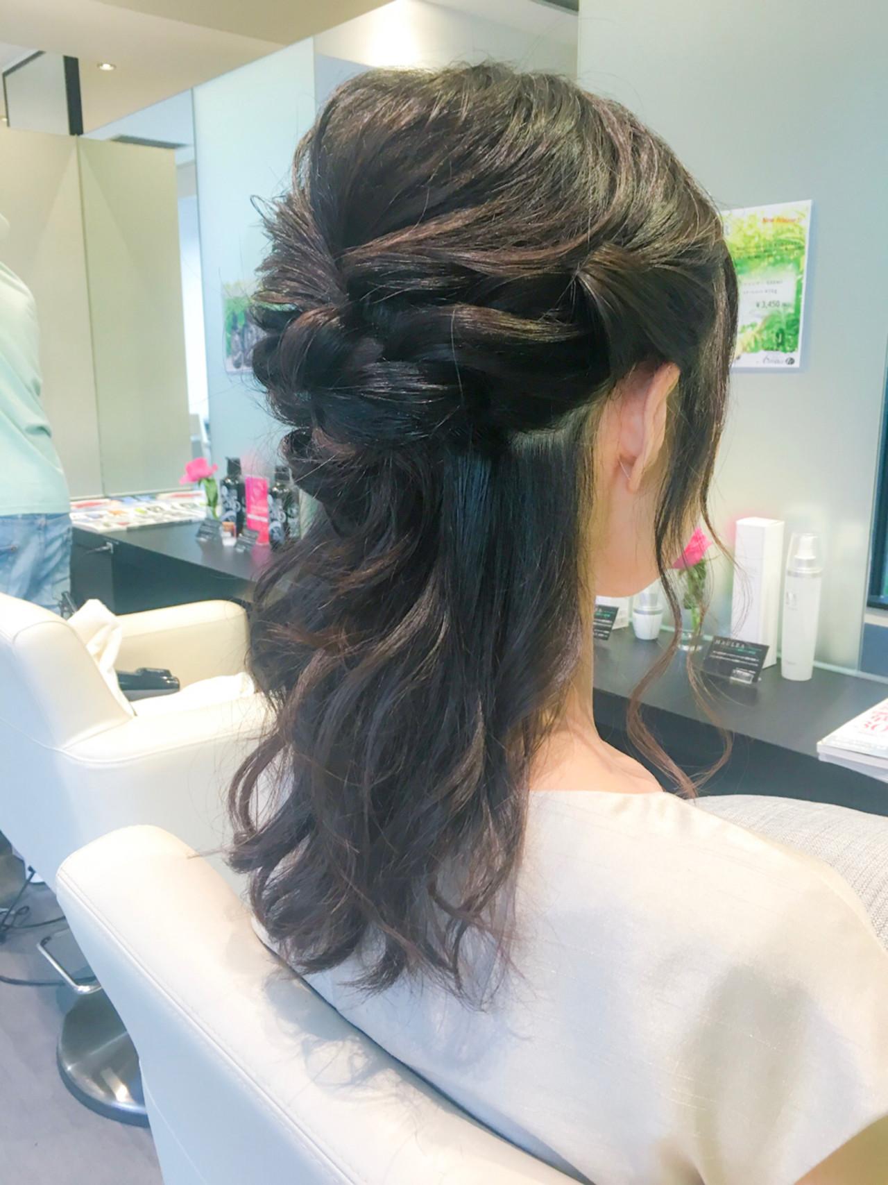 ロング エレガント 上品 ヘアアレンジヘアスタイルや髪型の写真・画像