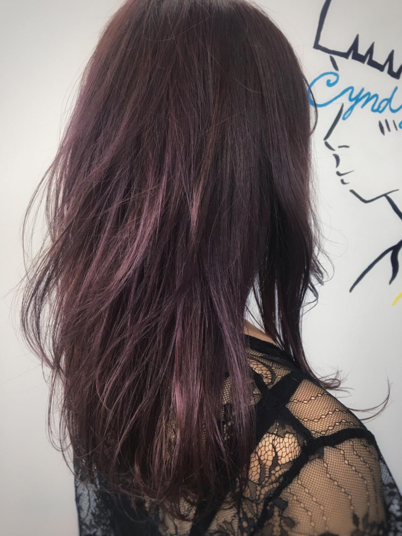 ストリート ロング ピンク パープル ヘアスタイルや髪型の写真・画像 | 砂川 航 / CYNDY color salon