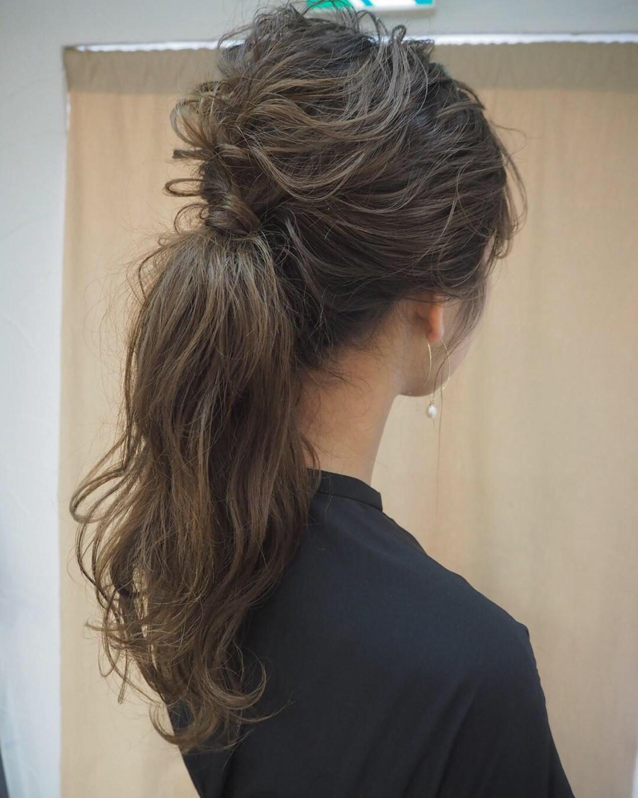 編み込み ナチュラル ヘアアレンジ 結婚式 ヘアスタイルや髪型の写真・画像 | 宮迫 真美 / airfeel