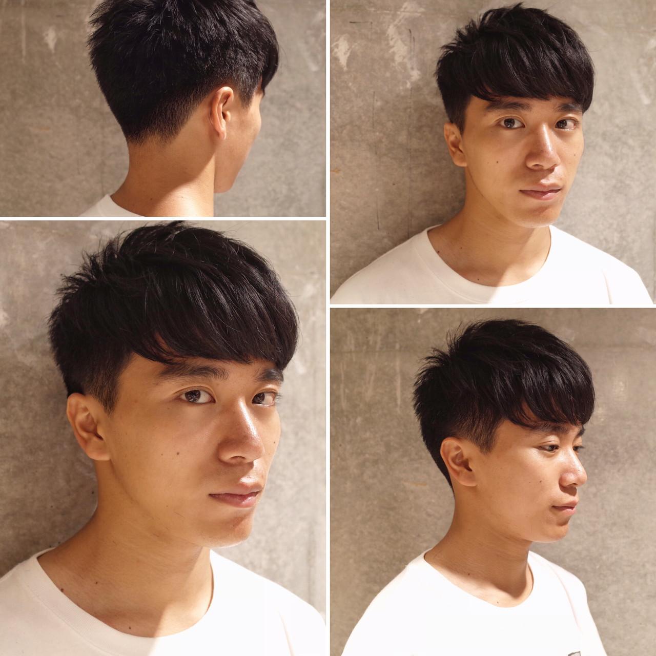 ショート ナチュラル ツーブロック メンズショートヘアスタイルや髪型の写真・画像