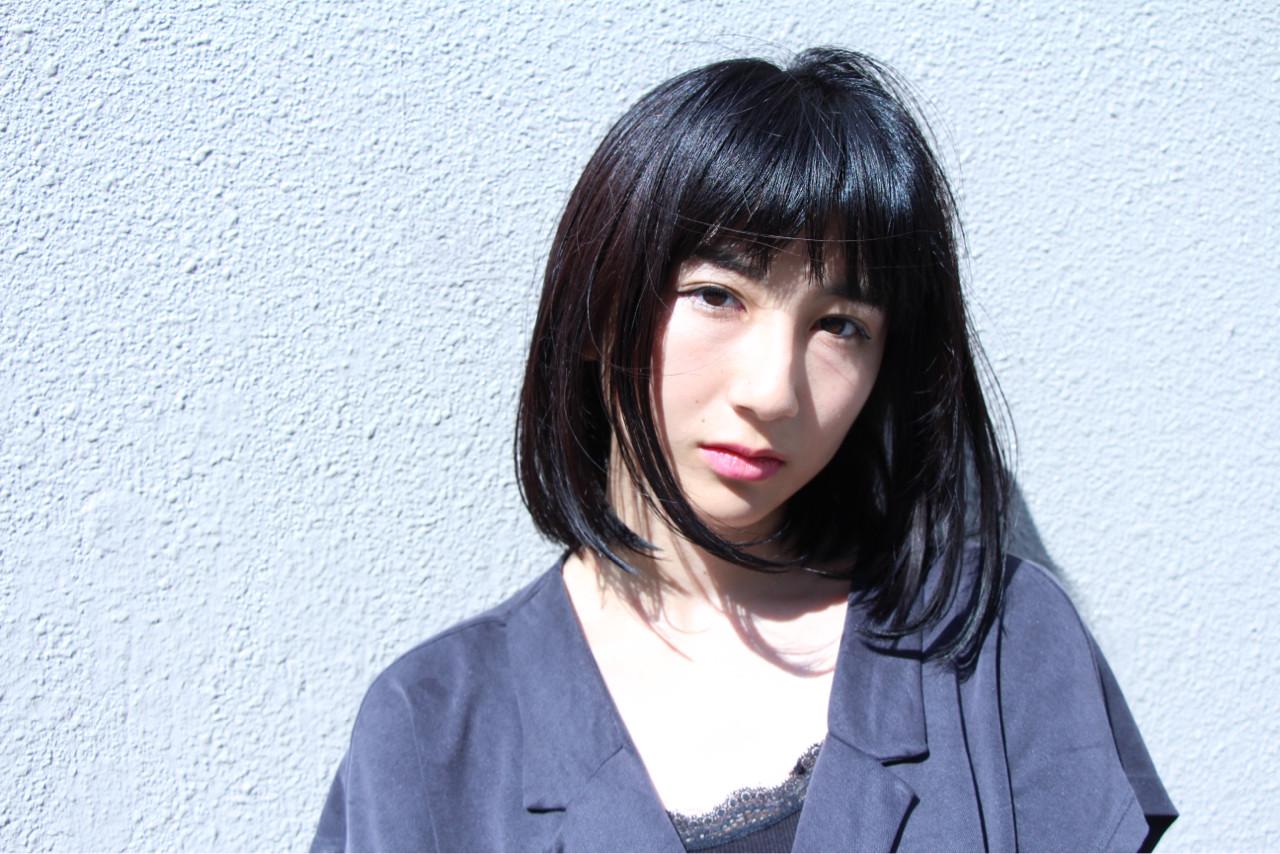 ボブ 小顔 ナチュラル ミディアム ヘアスタイルや髪型の写真・画像 | 井澤 大樹/sorriso / sorriso hair桜山