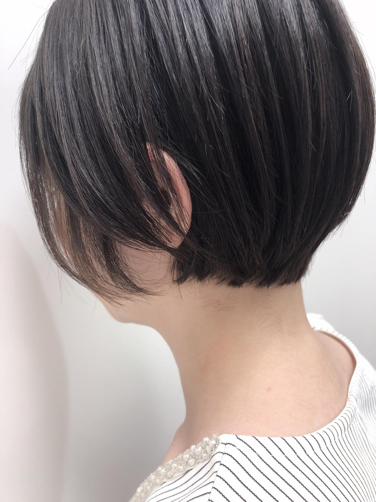 ナチュラル 大人ショート 小顔ショート ショートボブ ヘアスタイルや髪型の写真・画像 | hoshiko dai / Retaaan