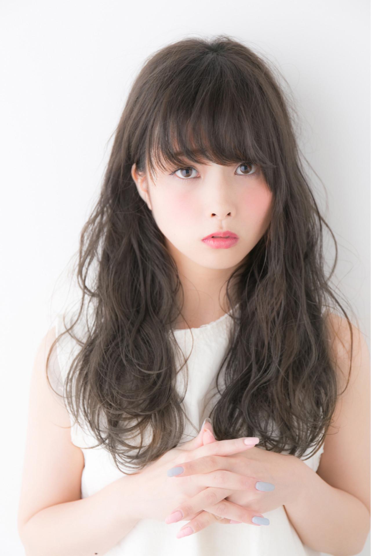 パーマでレベルアップ!無敵のかわいさ♡黒髪セミロング 羽田ひろむ / LAiLY by GARDEN