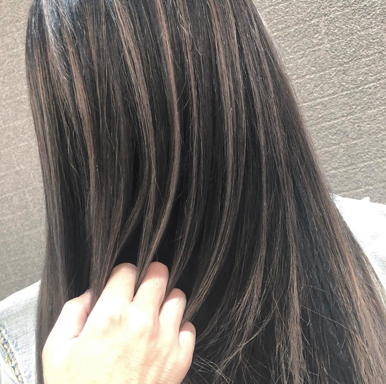 ミディアム 外国人風 バレイヤージュ 外国人風カラー ヘアスタイルや髪型の写真・画像 | アンドウ ユウ / agu hair edge