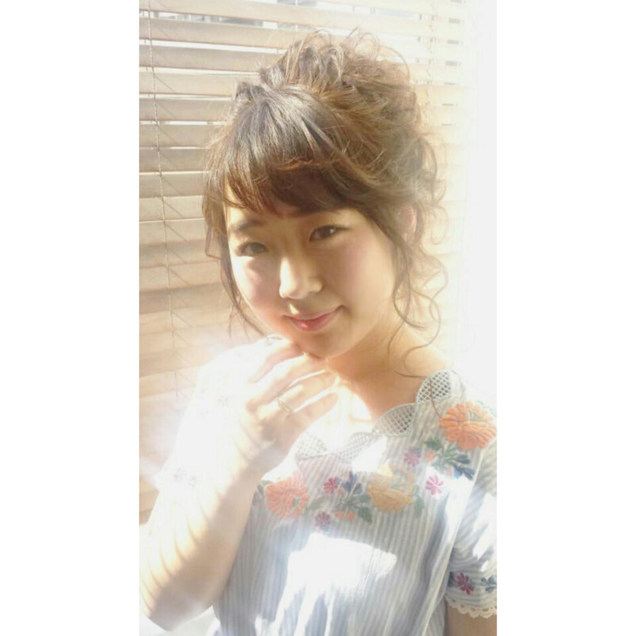 大人かわいい 簡単ヘアアレンジ ロング ショート ヘアスタイルや髪型の写真・画像   濱上 円来 /