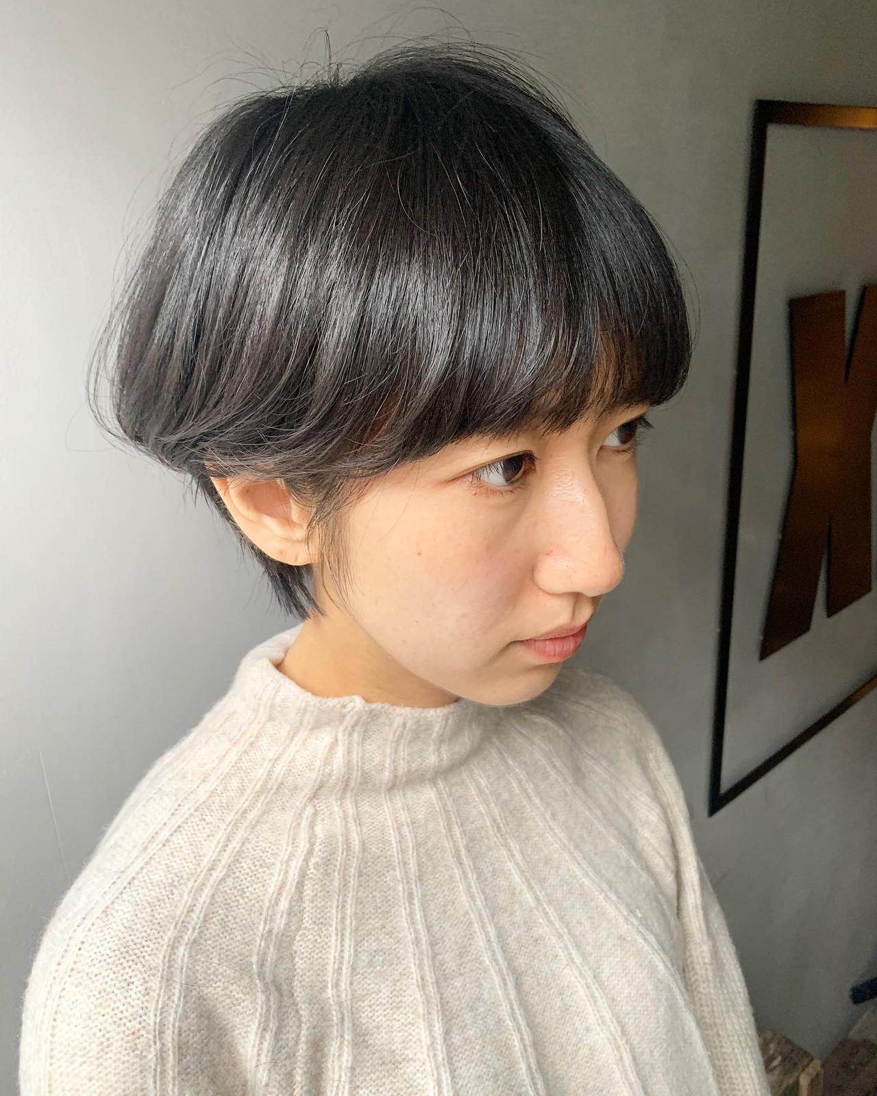 ショートボブ ショートヘア ハンサムショート ショートヘアスタイルや髪型の写真・画像