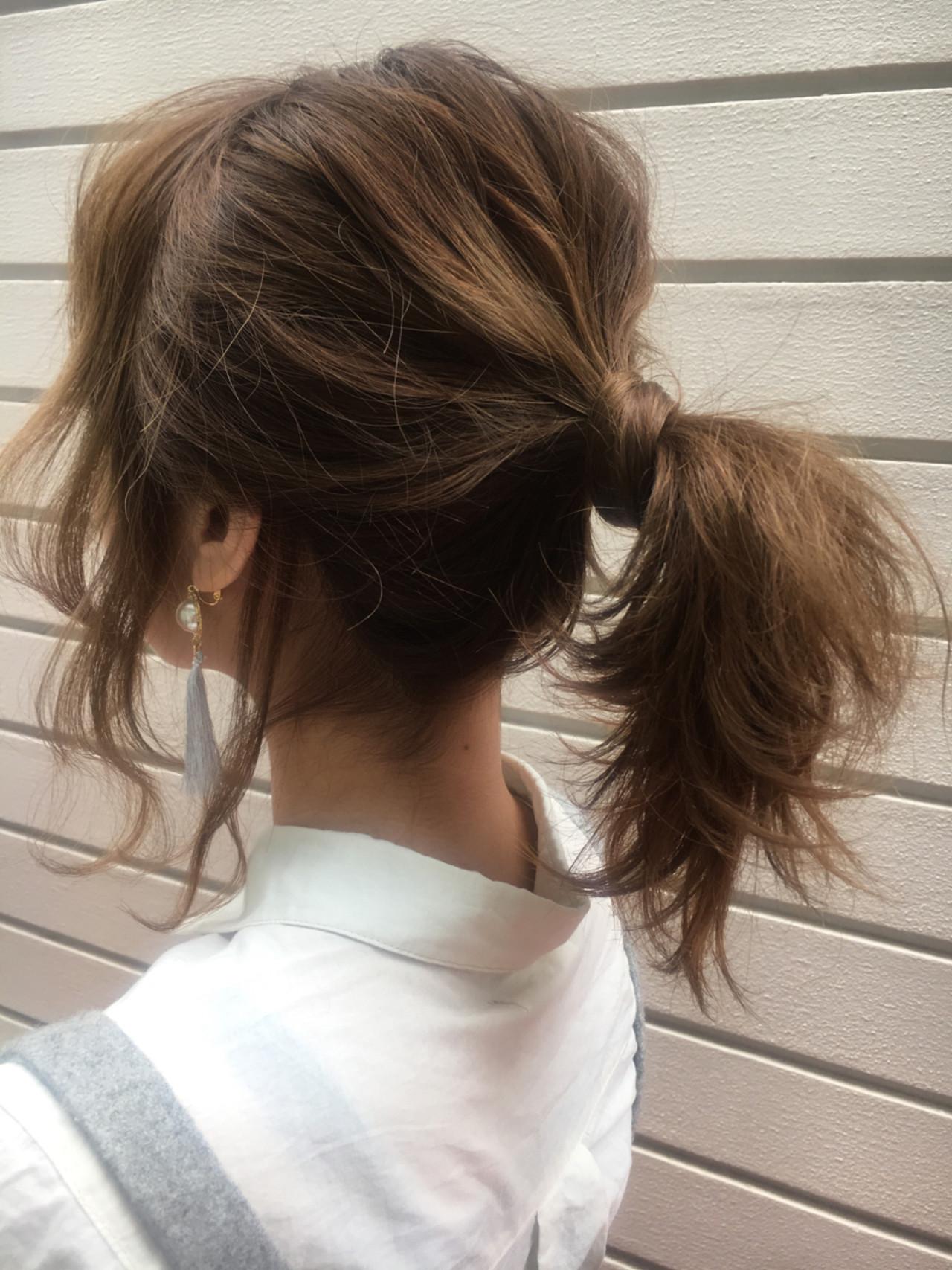 デート アンニュイ 外ハネ ヘアアレンジ ヘアスタイルや髪型の写真・画像 | 秋山友美/自由が丘Buzz / 自由が丘 Buzz(バズ)