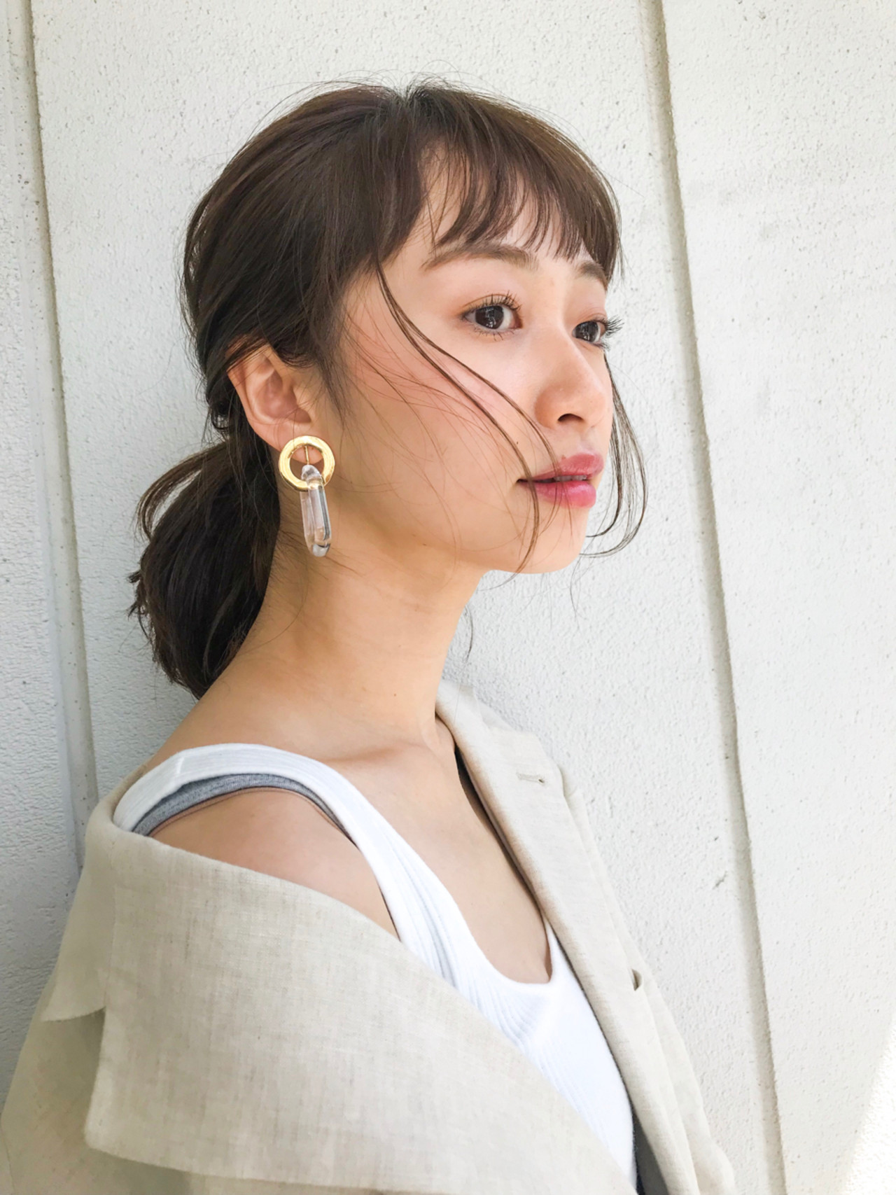 ナチュラル ミディアム 透明感 ヘアアレンジ ヘアスタイルや髪型の写真・画像   lora.garden 細田真吾 / lora.garden