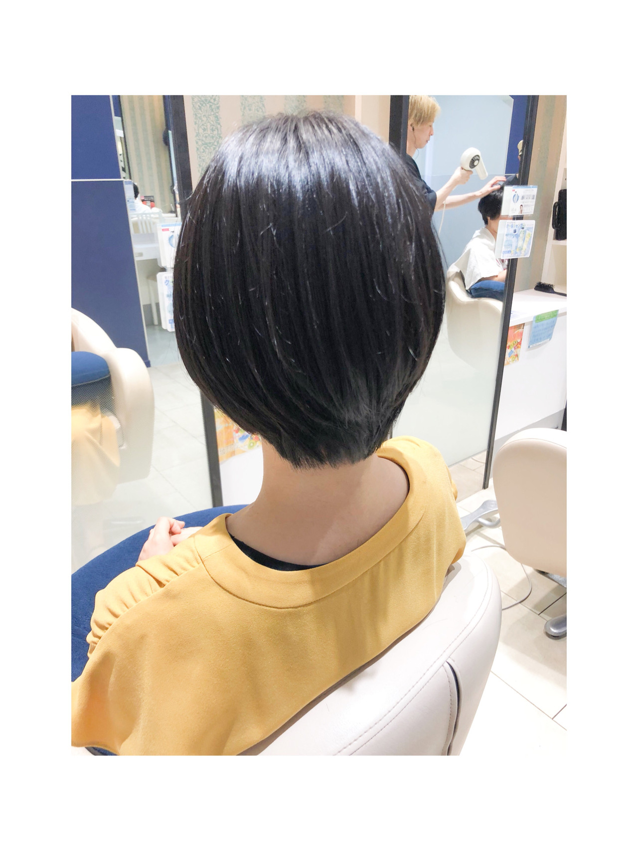 ショートボブ ナチュラル ボブ ショートヘア ヘアスタイルや髪型の写真・画像 | 中西陸 / abirt(アバース)