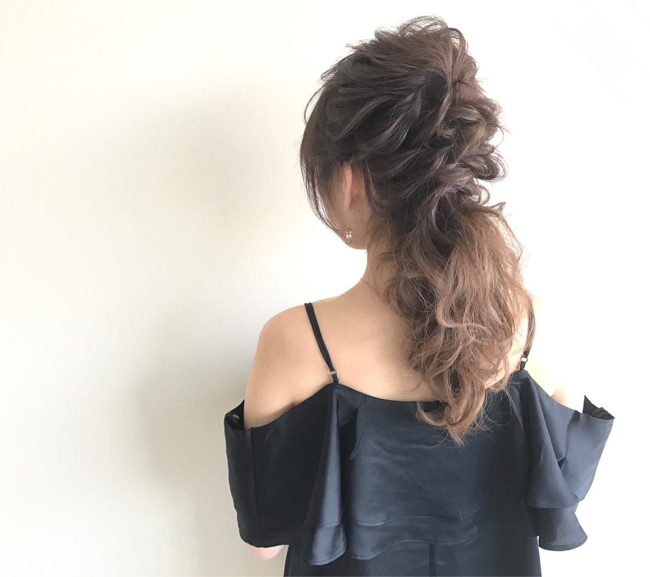 結婚式 ローポニーテール ヘアアレンジ 上品 ヘアスタイルや髪型の写真・画像 | 高瀬 功二 / Liliy