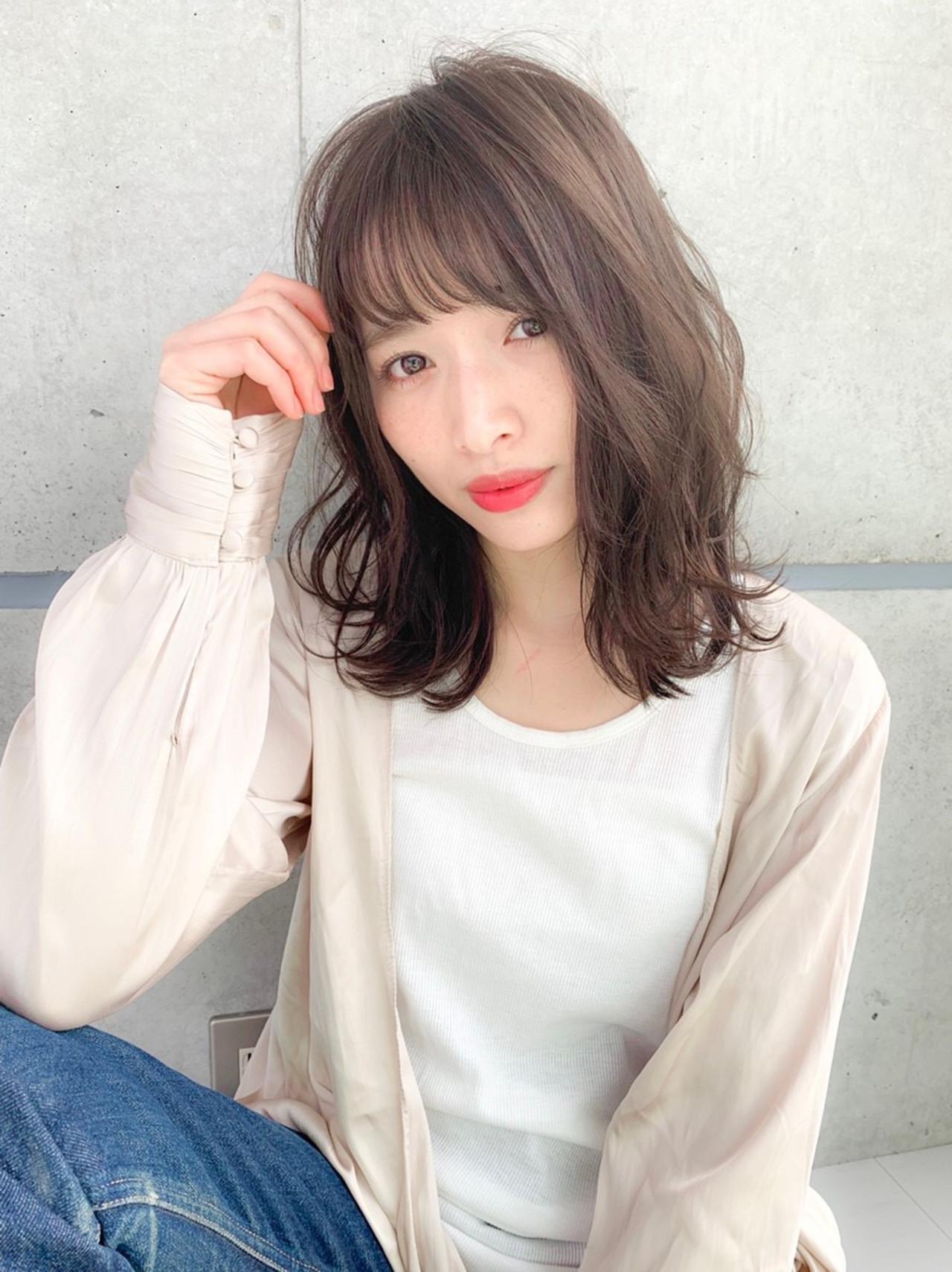 ヘアアレンジ くびれカール ナチュラル ミディアム ヘアスタイルや髪型の写真・画像 | 小峰孝太/ JUICE店長 /  JUICE