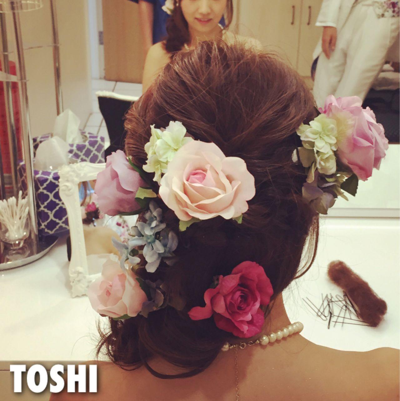 ガーリー 結婚式 フィッシュボーン ロング ヘアスタイルや髪型の写真・画像 | Toshi/Freelance / go today シェアサロン/Hair&Make Cassie/