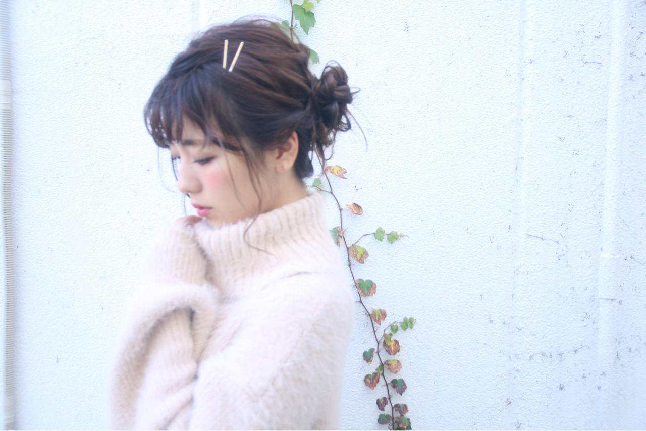 ヘアアレンジ フェミニン 結婚式 デート ヘアスタイルや髪型の写真・画像   松谷 聖史 /  estrela