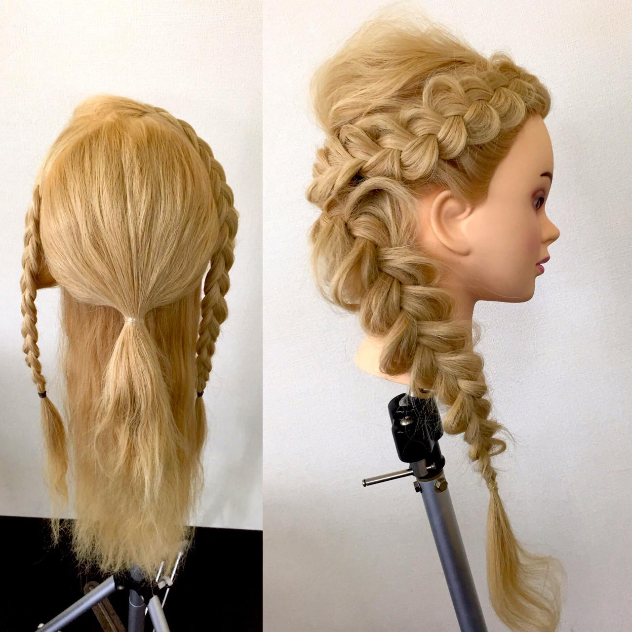 ヘアアレンジ ロング 大人かわいい 編み込み ヘアスタイルや髪型の写真・画像   佐藤 允美 / Hair Space  ACT  LOCALLY(アクトローカリー)