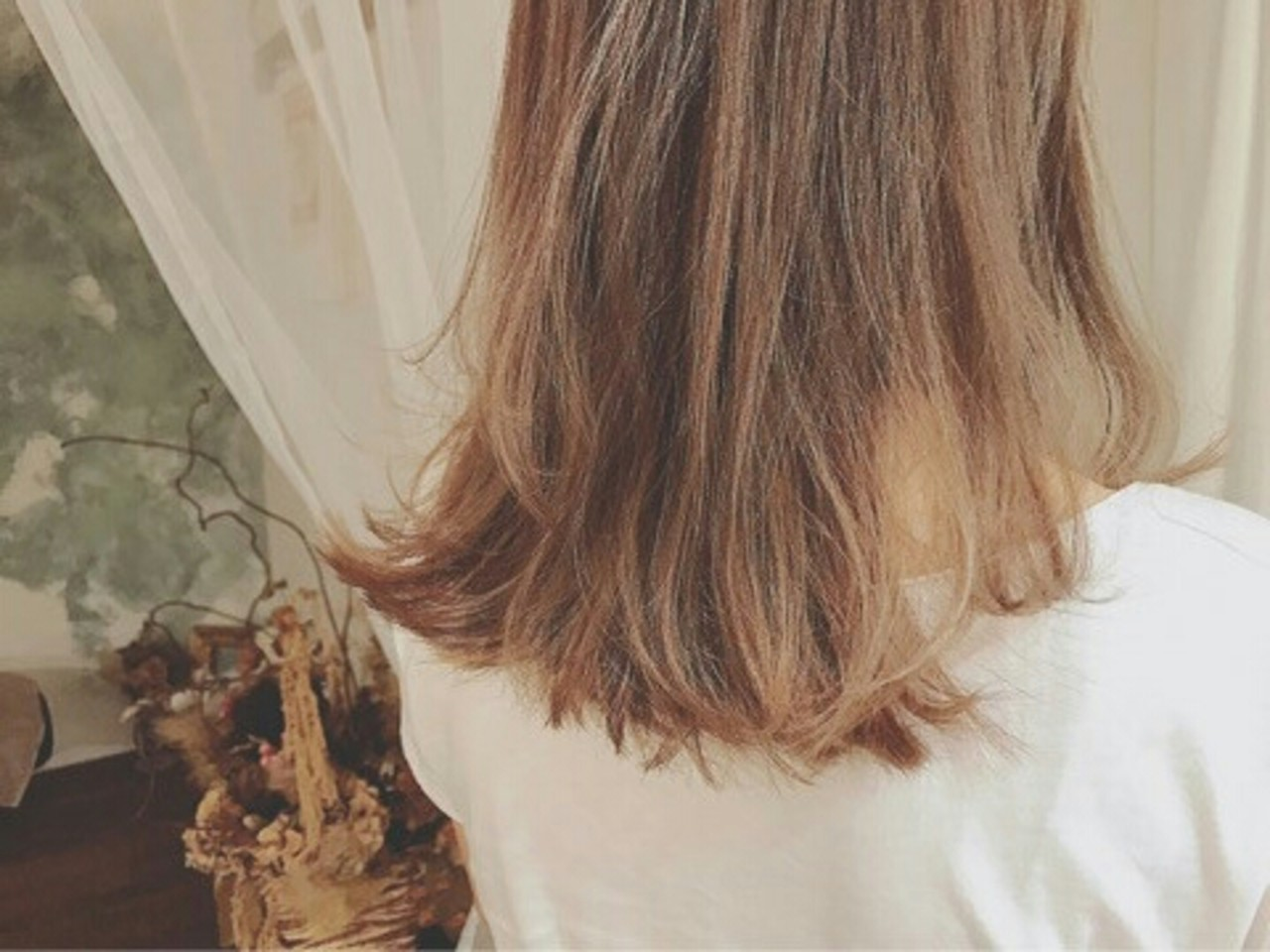 モード 外国人風 グレージュ セミロング ヘアスタイルや髪型の写真・画像   浦川由起江 / nanon