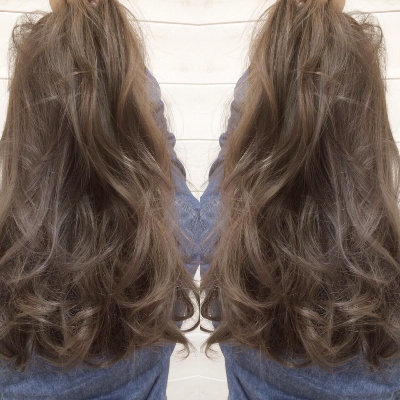 アッシュ グラデーションカラー 外国人風 コンサバヘアスタイルや髪型の写真・画像