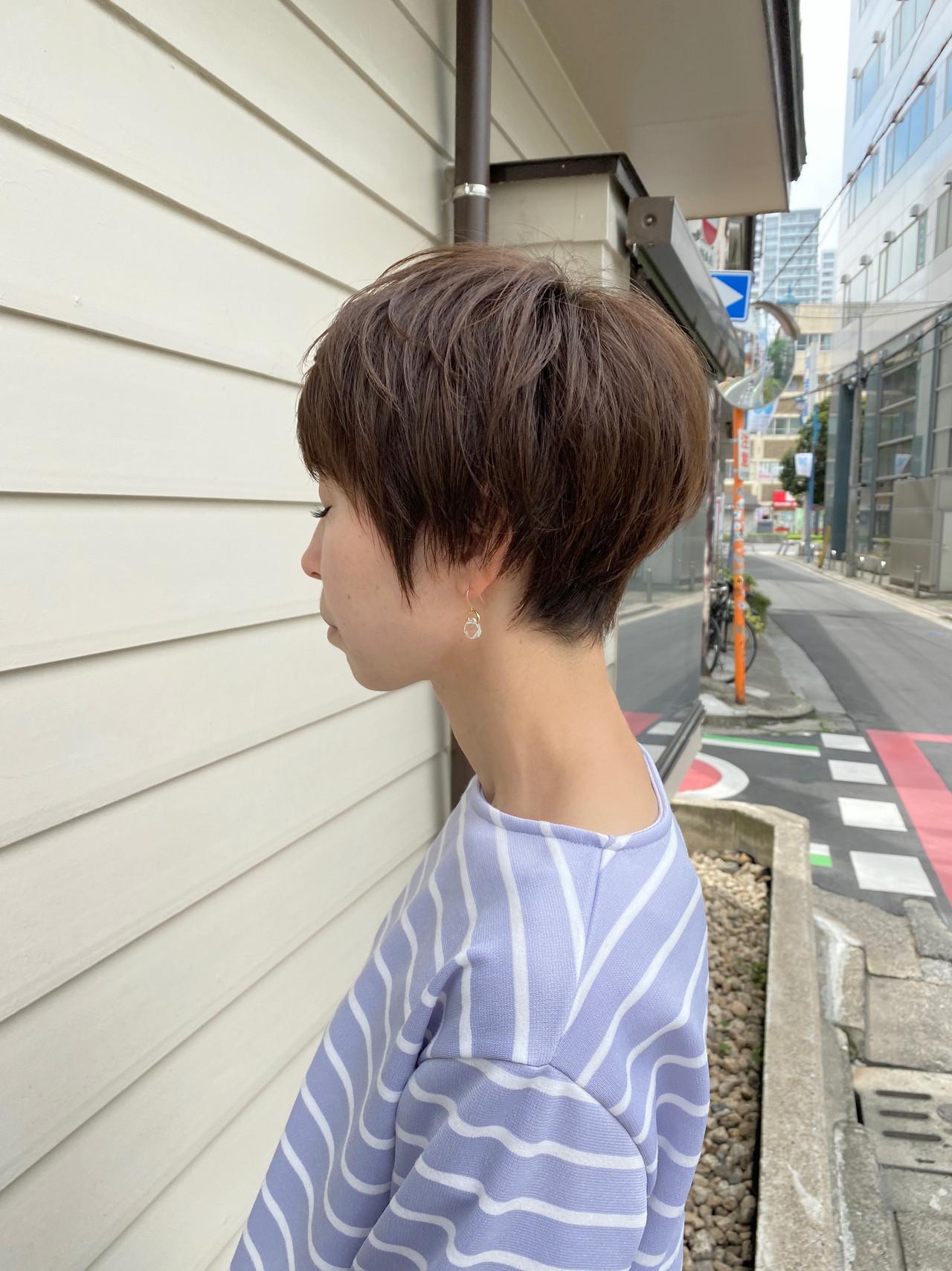ミニボブ ショートヘア ベリーショート ショート ヘアスタイルや髪型の写真・画像 | 金子ひろゆき / sola
