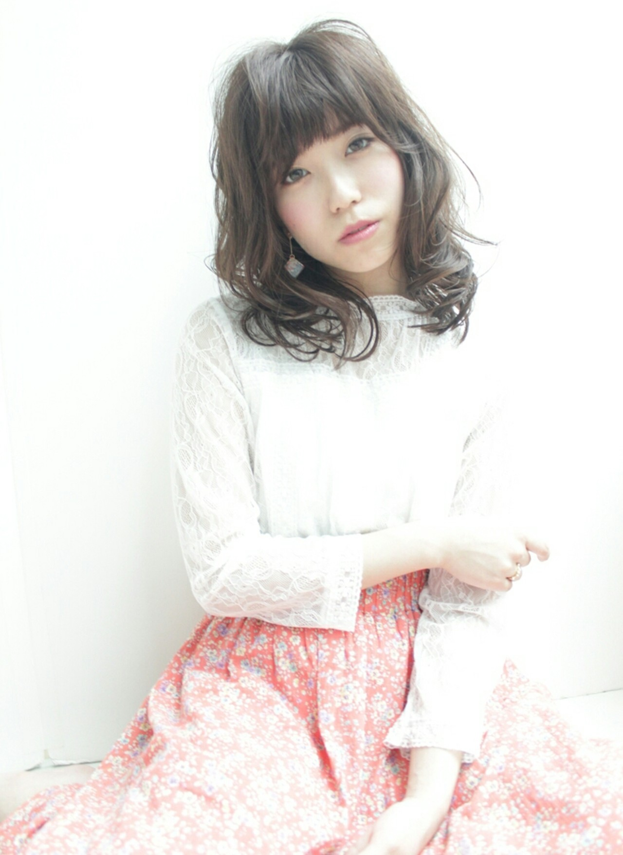 フェミニン ナチュラル 大人かわいい セミロング ヘアスタイルや髪型の写真・画像   air/LOVEST 稲毛 久紀 (神戸店) / air-KOBE