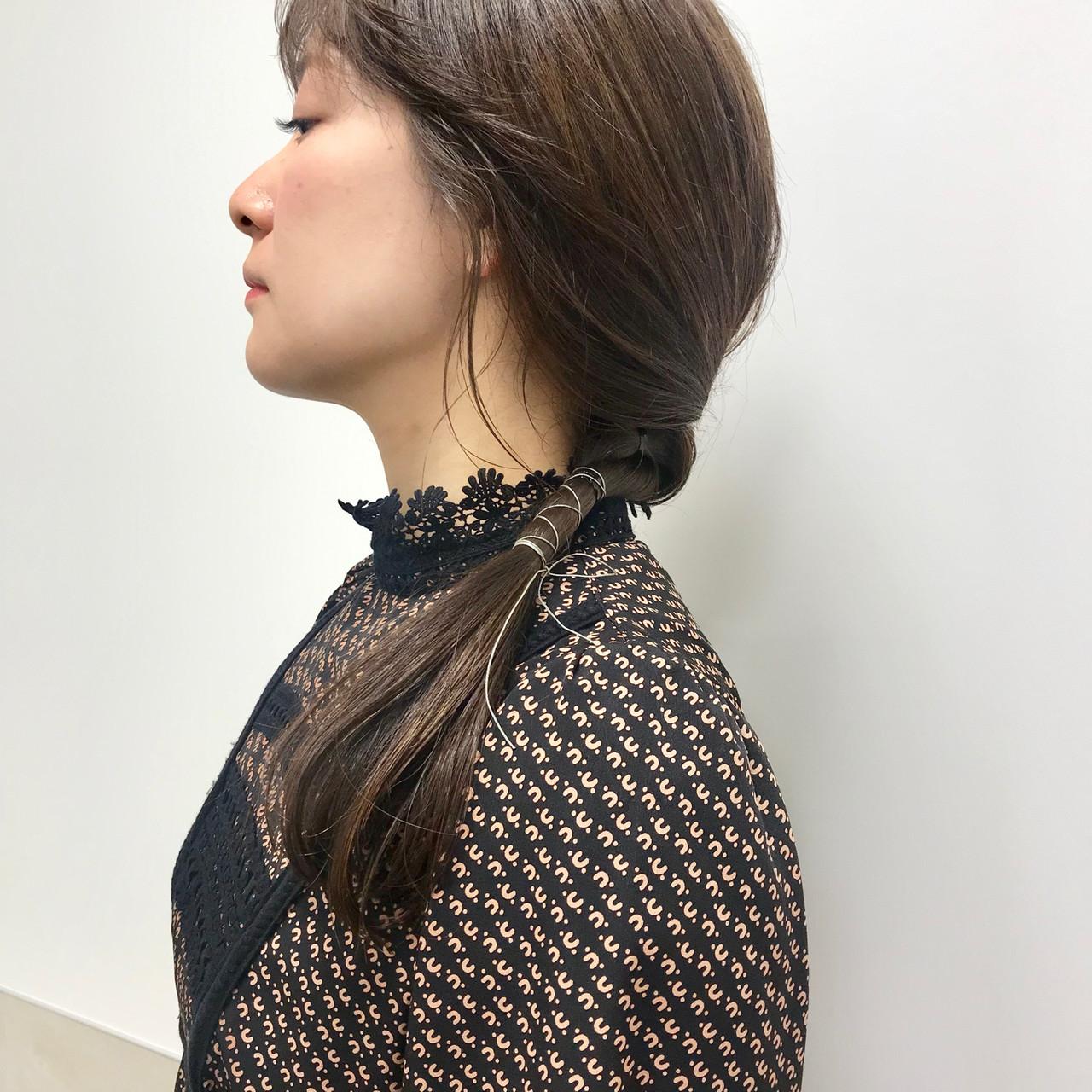 福岡市 ヘアアレンジ 大人カジュアル 大人女子ヘアスタイルや髪型の写真・画像