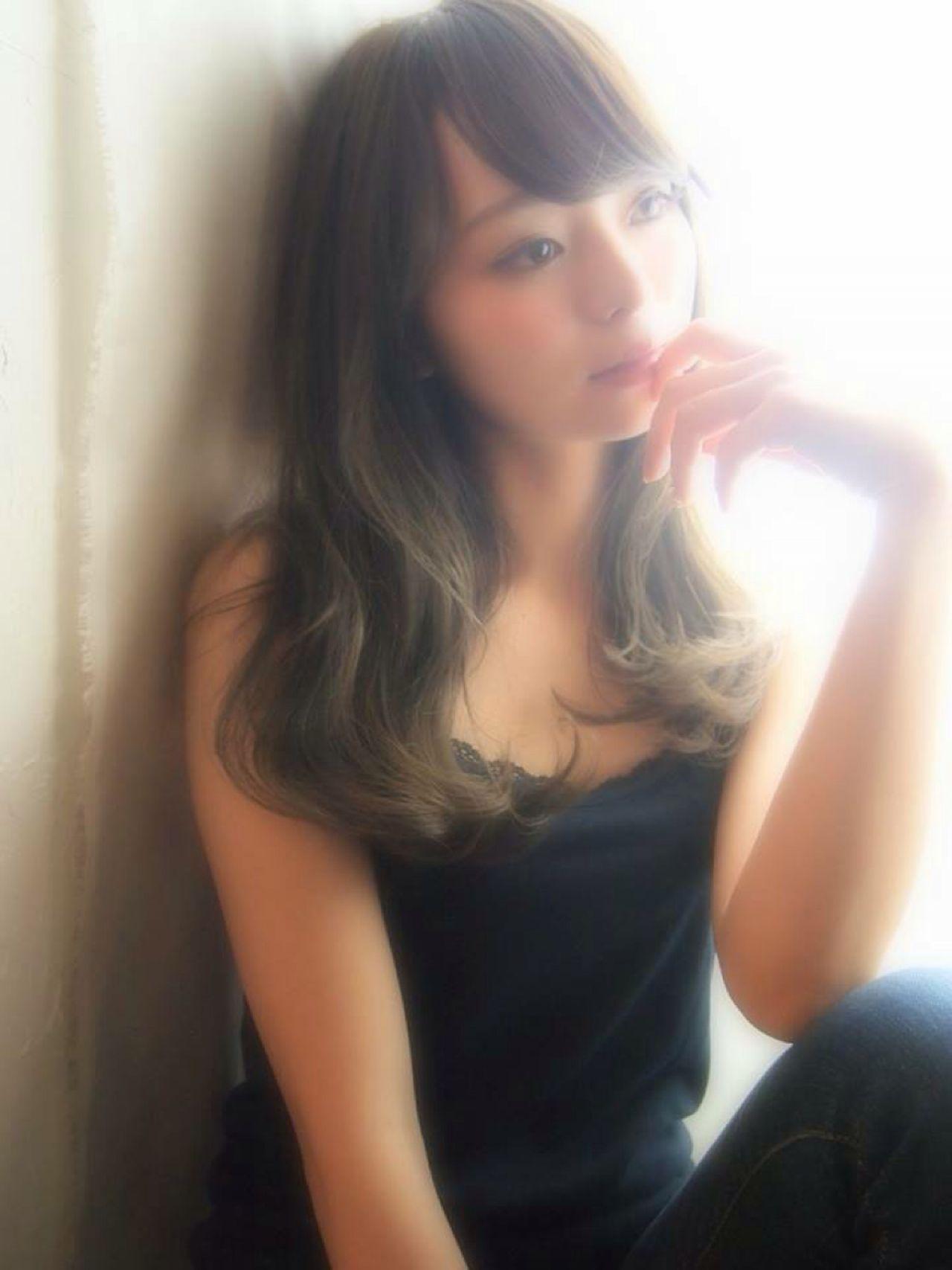 黒髪 秋 モテ髪 ロング ヘアスタイルや髪型の写真・画像 | 城 慎太郎 / votan hairdesign