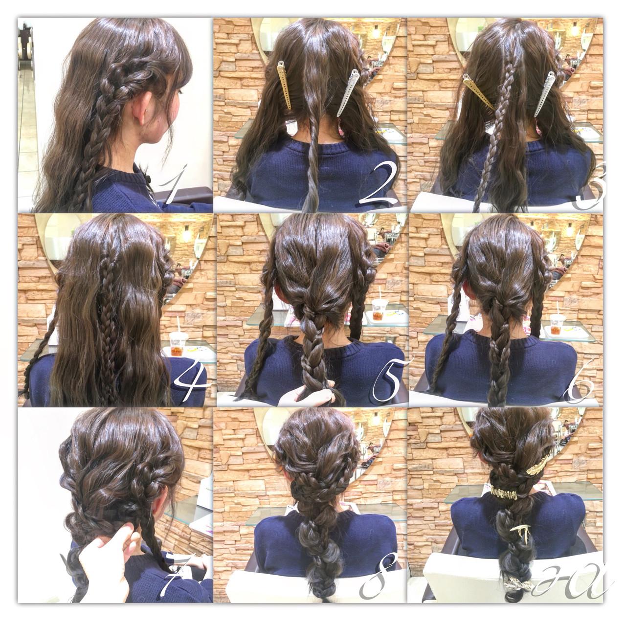 ロング フェミニン 簡単ヘアアレンジ 大人かわいい ヘアスタイルや髪型の写真・画像 | 庄司 将之 / Quartettカルテット