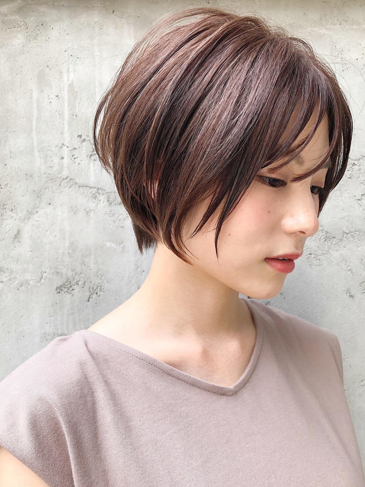 ハンサムショート ヘアアレンジ アッシュブラウン アッシュヘアスタイルや髪型の写真・画像