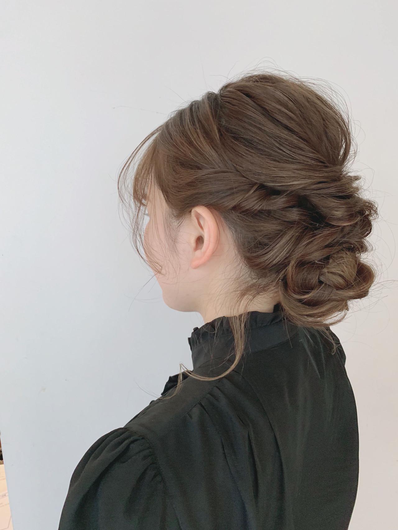 成人式 ヘアアレンジ 簡単ヘアアレンジ 結婚式 ヘアスタイルや髪型の写真・画像 | WAKA / CARE 梅田