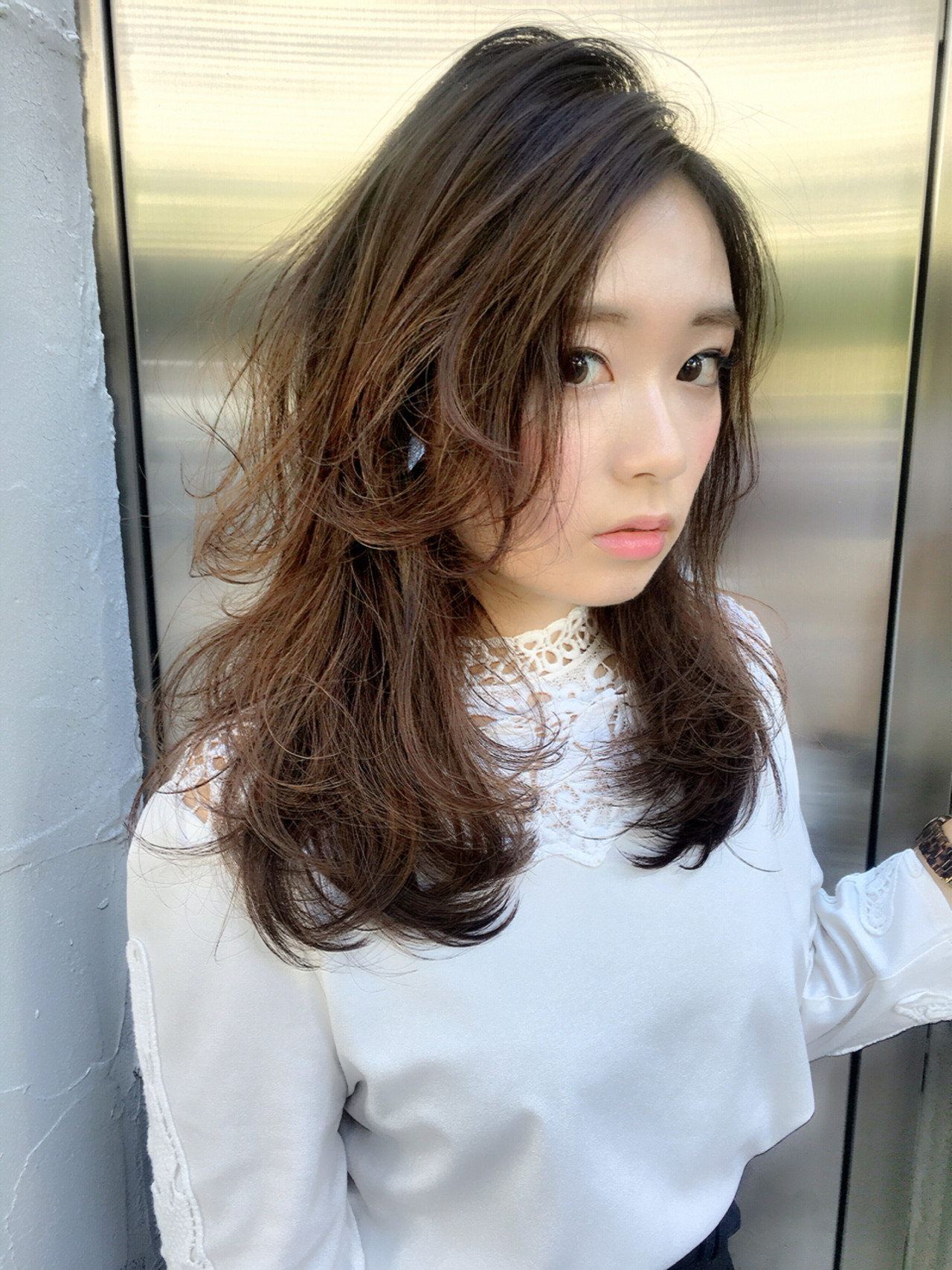 フェミニン ロング グラデーションカラー アッシュ ヘアスタイルや髪型の写真・画像 | 橋口 武史 RBY blanc / RBY blanc