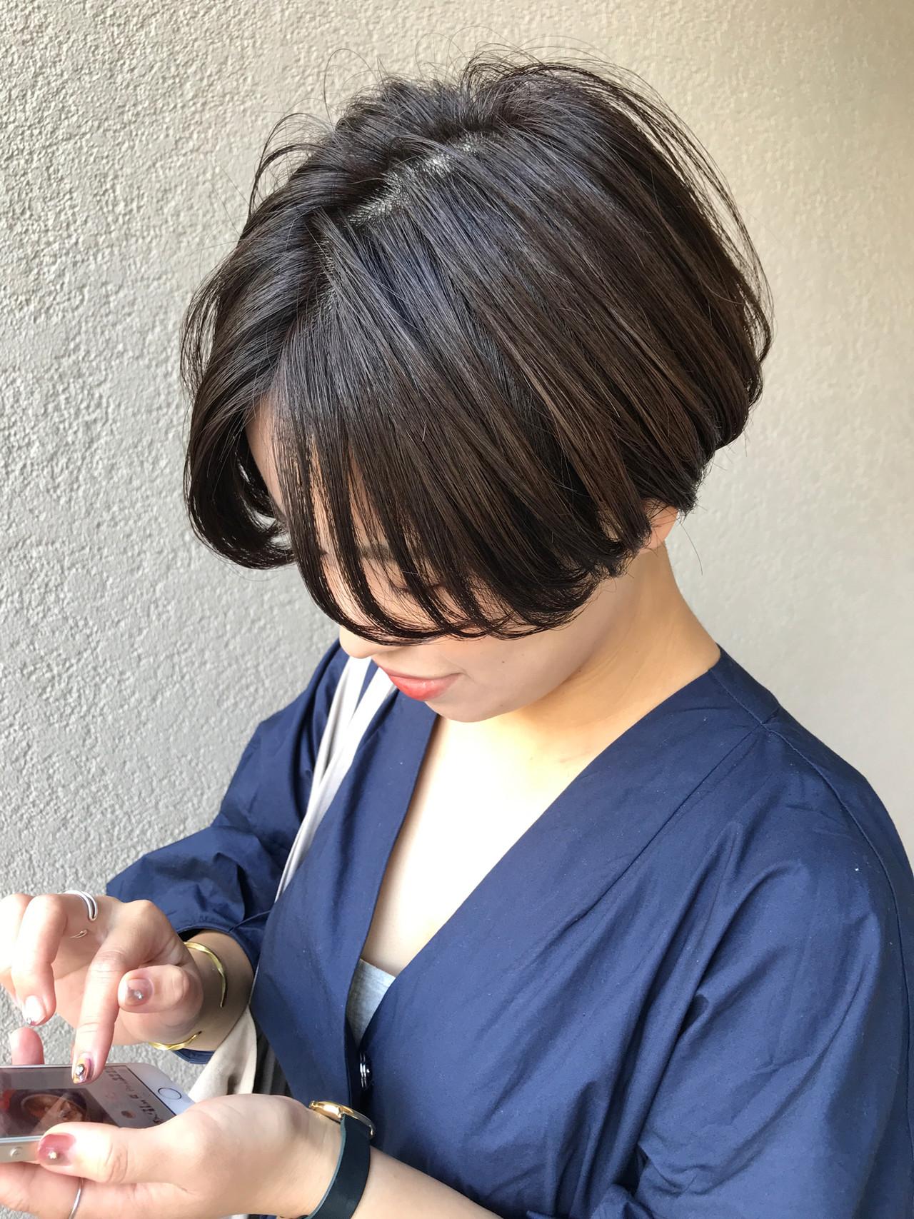 刈り上げ女子 刈り上げショート ショート ショートボブ ヘアスタイルや髪型の写真・画像   富永暁子 / SUMMER