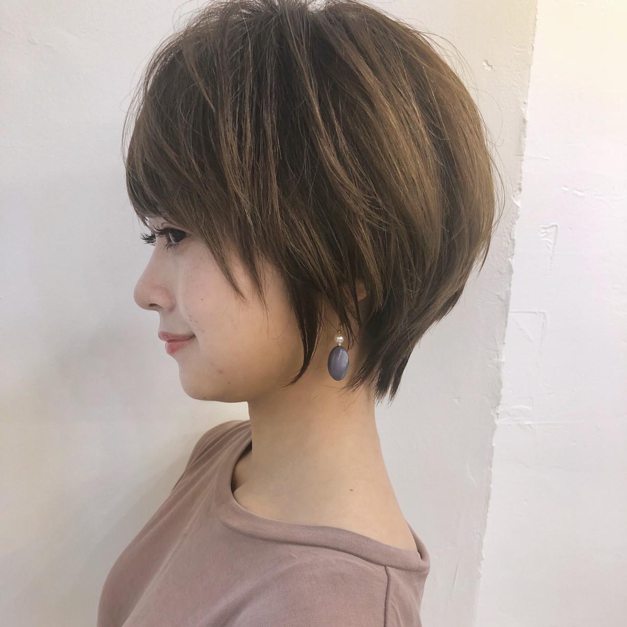大人かわいい コンサバ ショート ショートボブヘアスタイルや髪型の写真・画像
