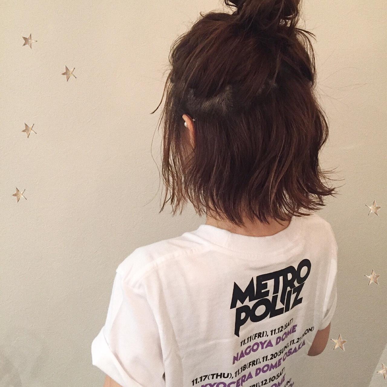 ヘアアレンジ ストリート ボブ ハーフアップ ヘアスタイルや髪型の写真・画像   市川千夏*札幌 / salon AKIRA