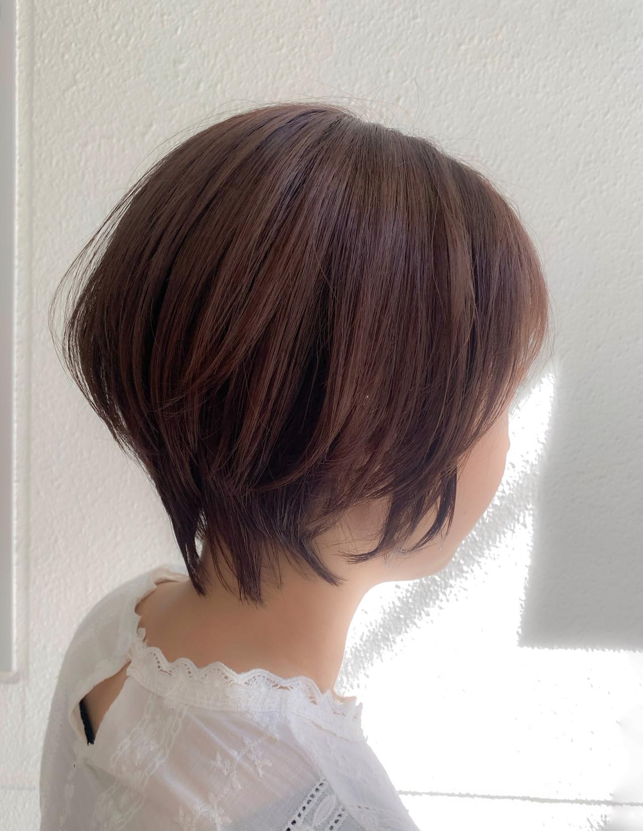 ショートボブ ショートヘア ショート ナチュラル ヘアスタイルや髪型の写真・画像 | 加茂悠太 alco / alco三軒茶屋(アルコ)