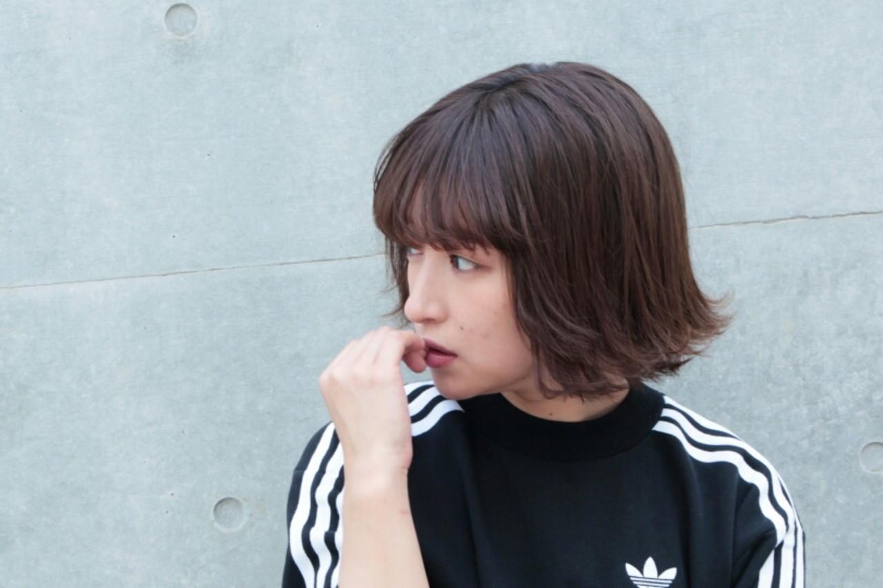 外ハネ 大人かわいい ボブ ラフ ヘアスタイルや髪型の写真・画像 | 大金亮介 / LiLi by Glanz