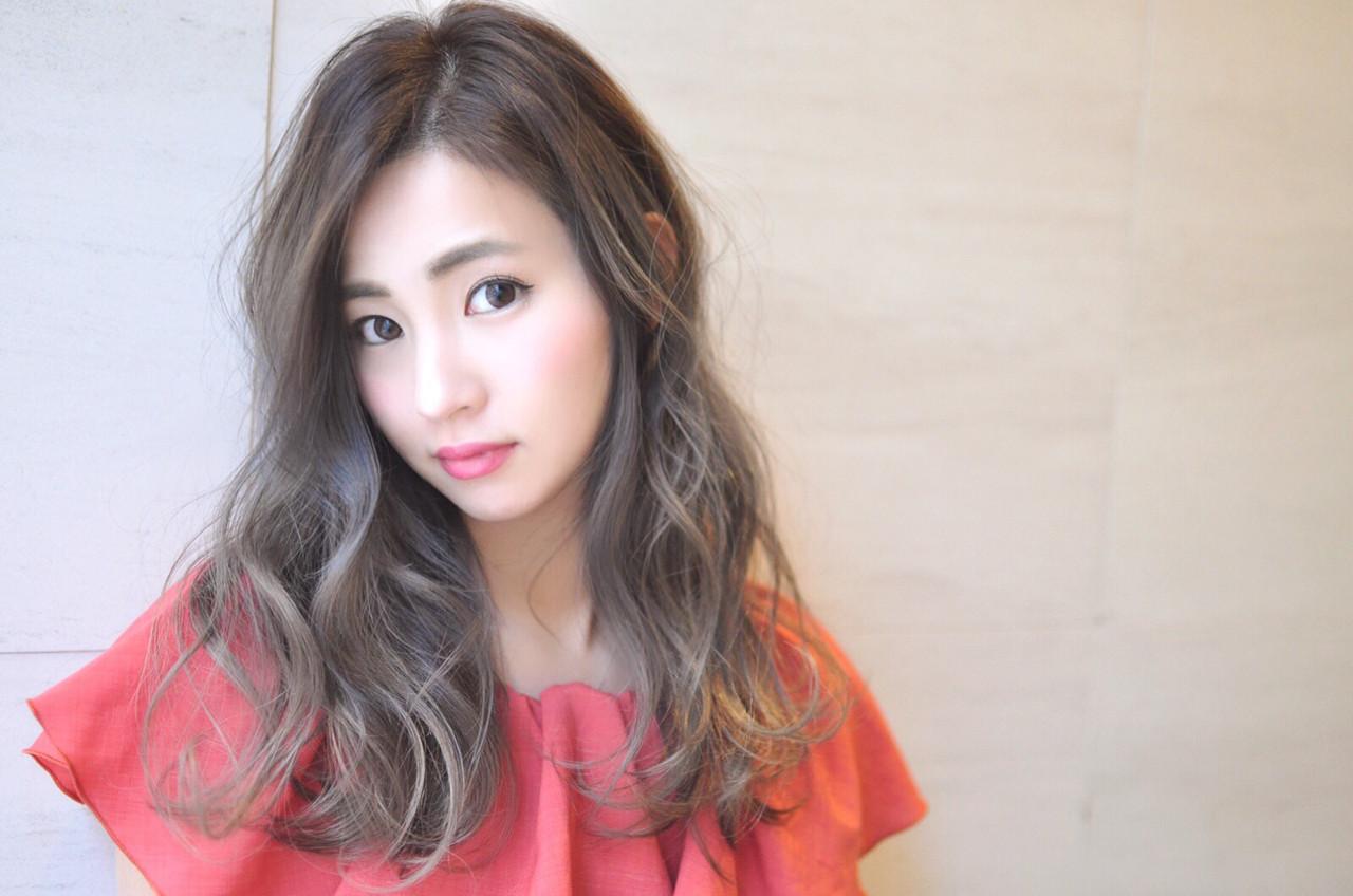 外国人風カラー エレガント 透明感 グラデーションカラーヘアスタイルや髪型の写真・画像