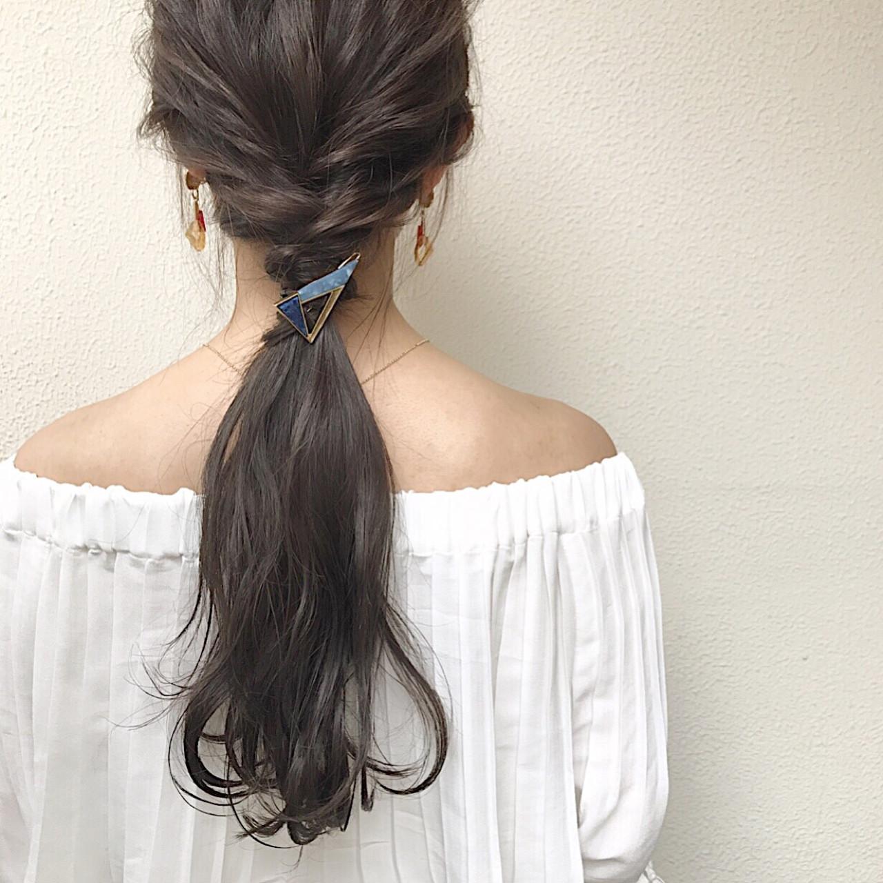 デート 秋 ロング ヘアアレンジ ヘアスタイルや髪型の写真・画像   國崎 裕 / WEC hair
