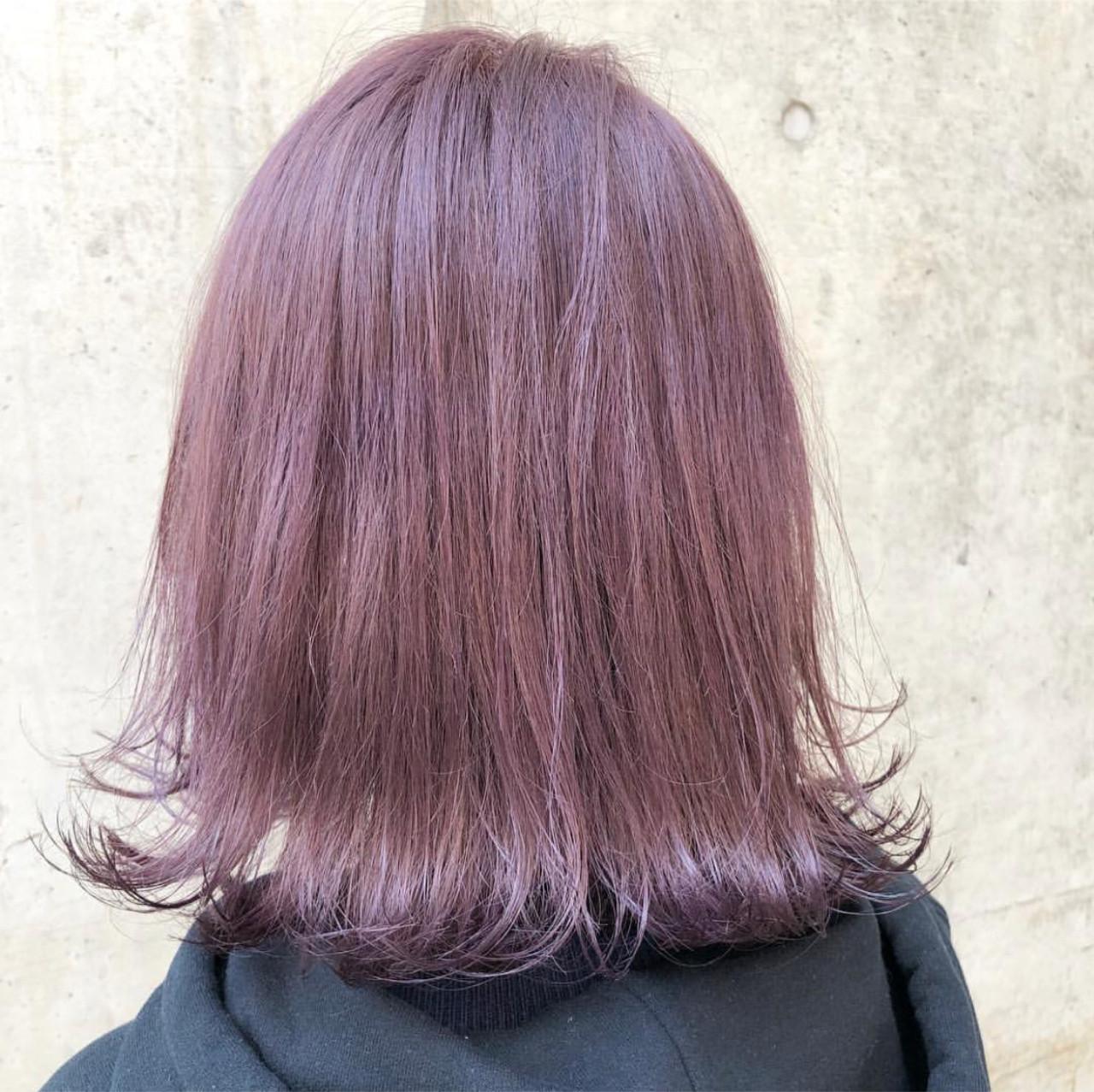 外国人風カラー バレイヤージュ ストリート ラベンダー ヘアスタイルや髪型の写真・画像 | AKANE / LOGUE