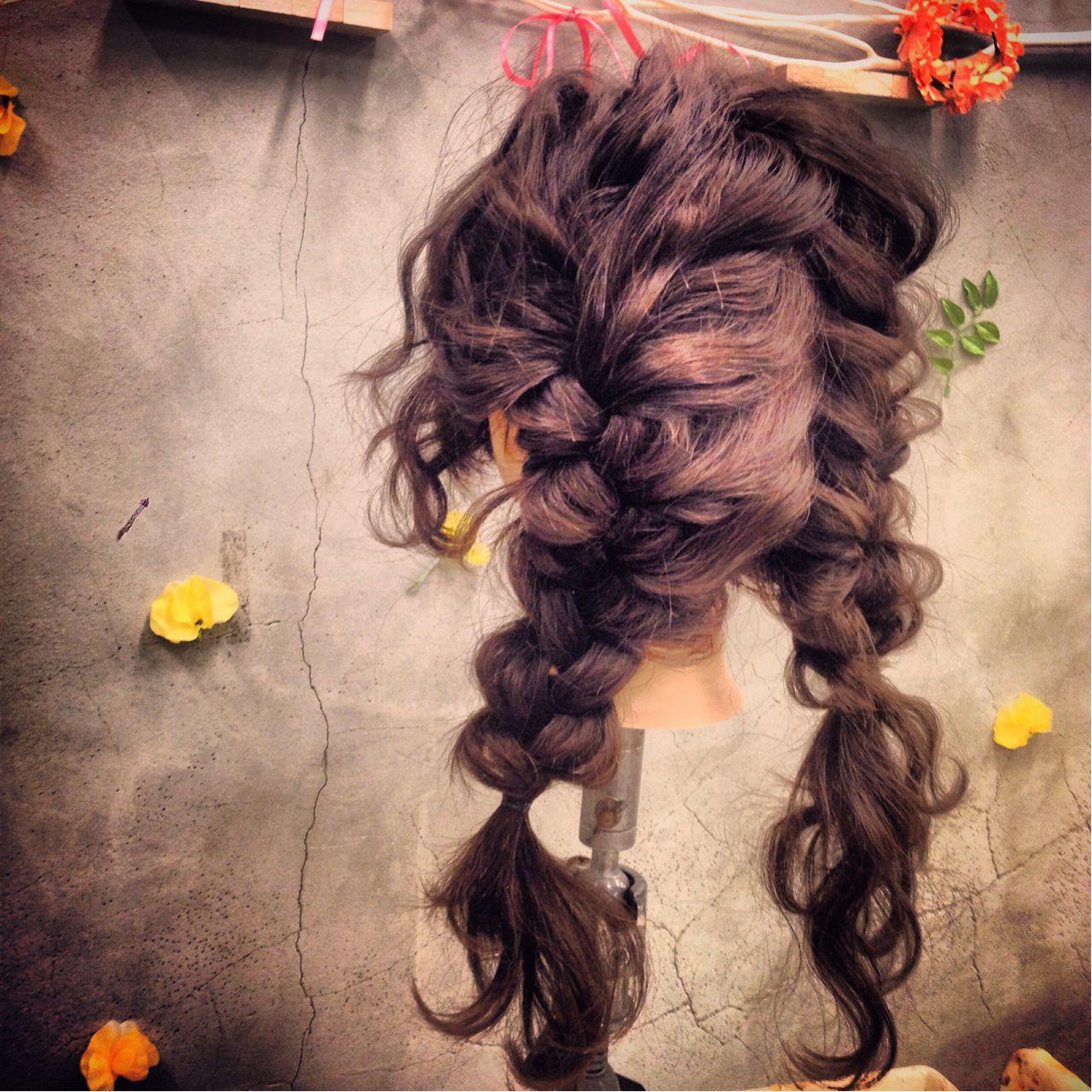 ショート ヘアアレンジ 三つ編み 簡単ヘアアレンジ ヘアスタイルや髪型の写真・画像