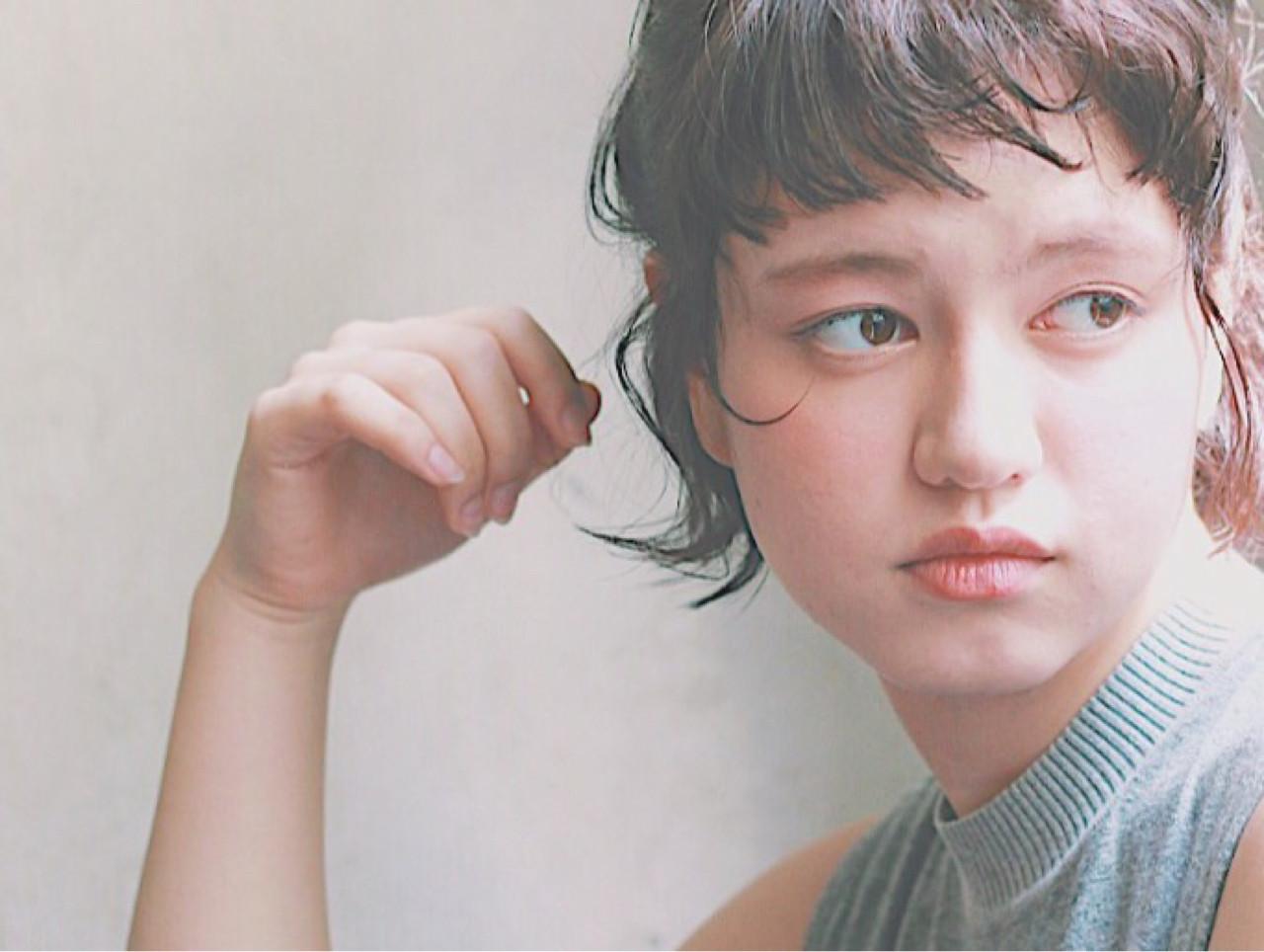 ハーフアップ 簡単ヘアアレンジ ヘアアレンジ ショート ヘアスタイルや髪型の写真・画像 | 冨永 真太郎 / 人トナリ